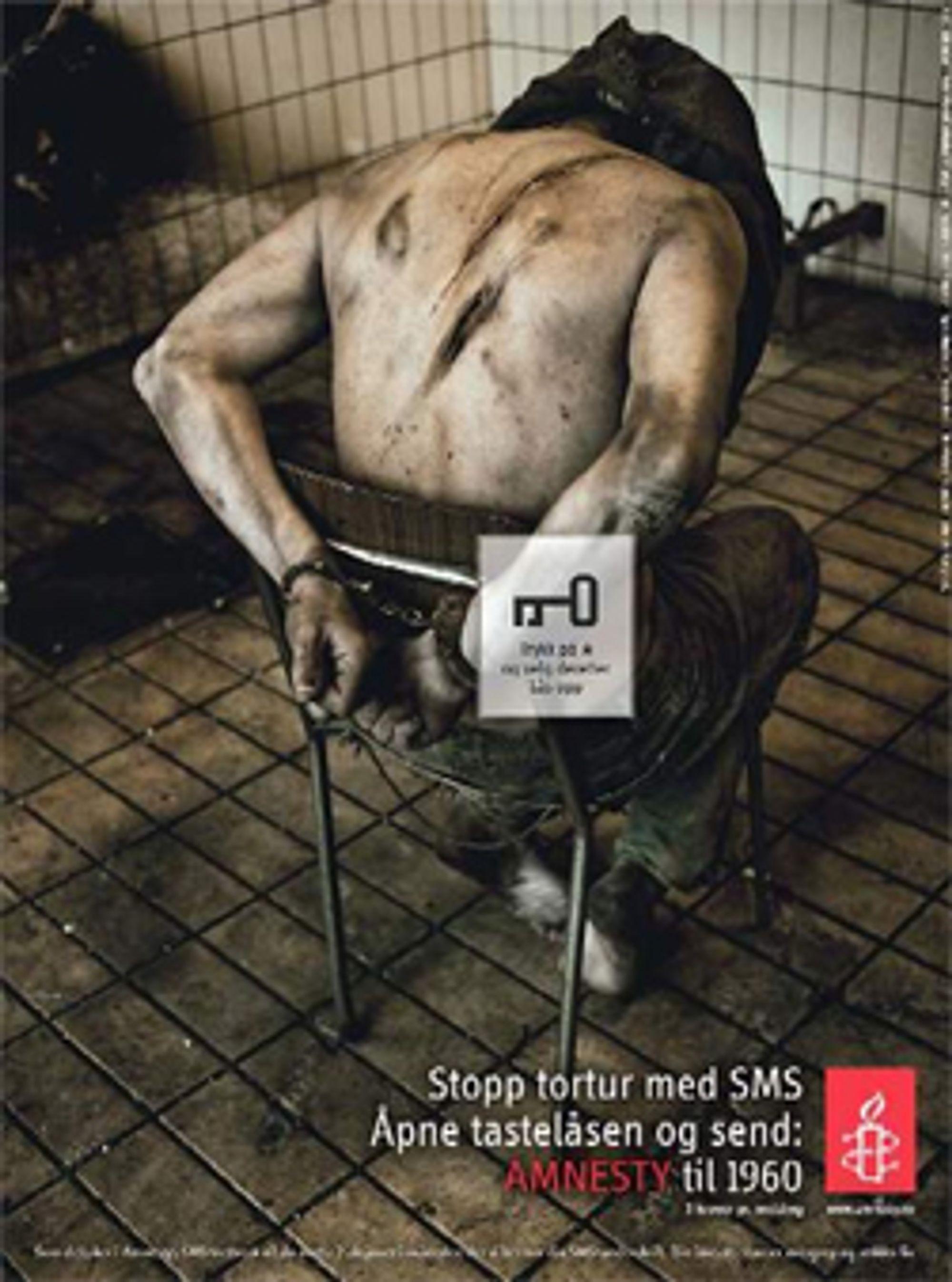 En av kampanjebildene til Amnesty. (Foto: Marcel Lelienhof / Amnesty Norge)