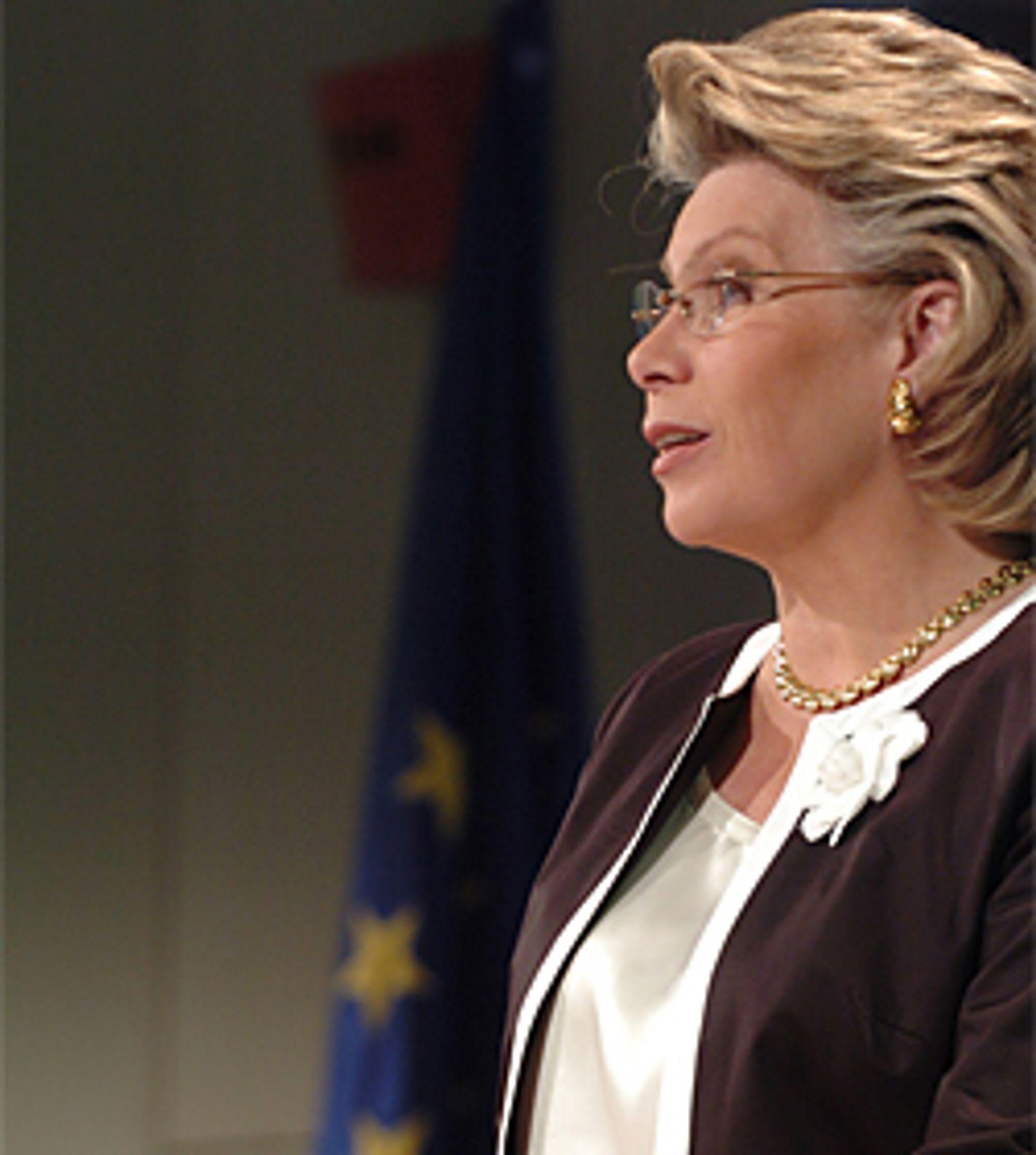Viviane Reding ønsker DVB-H i Europa. (Foto: Europakommisjonen)
