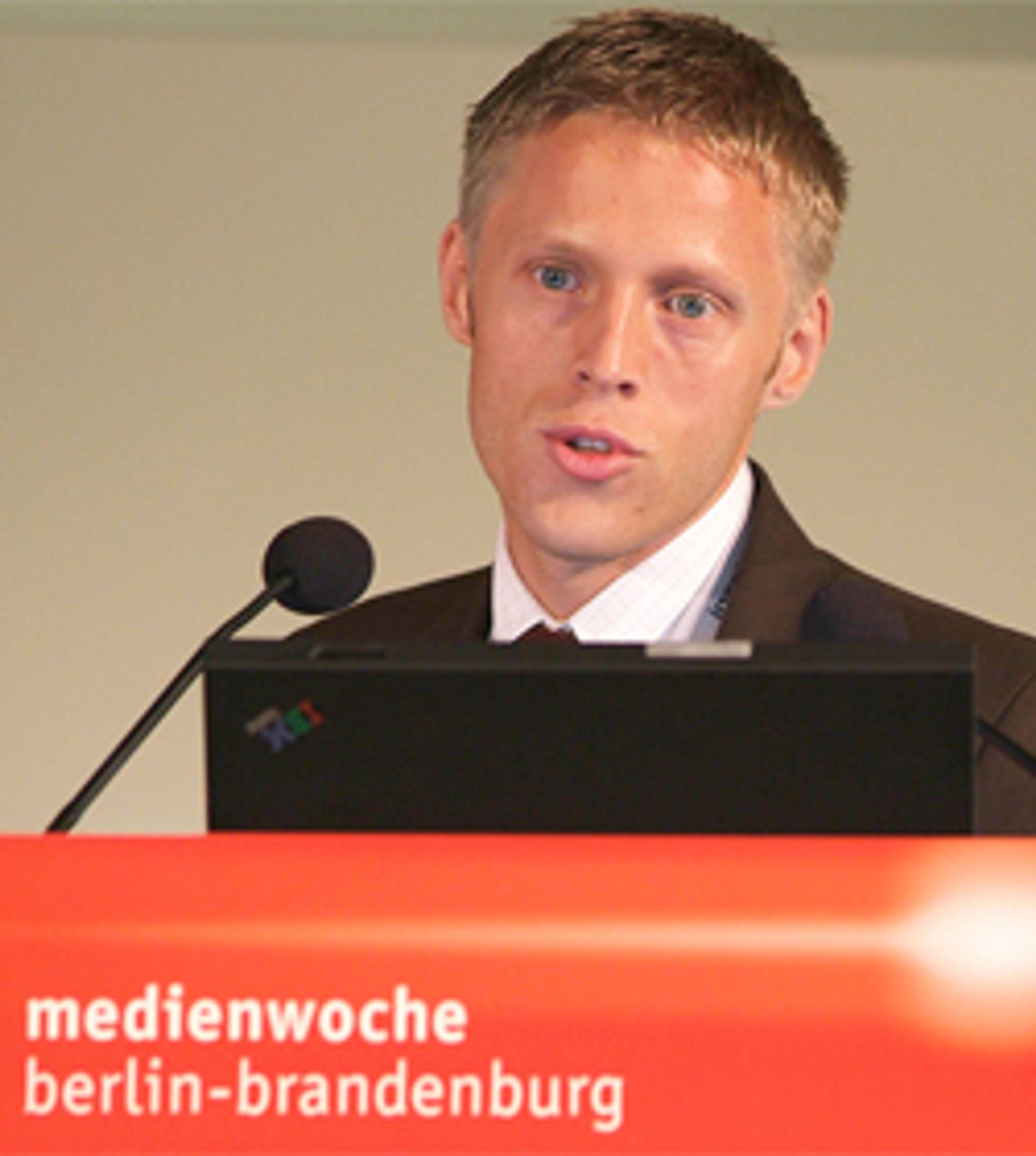 Gunnar Garfors, her på mediaukene i Berlin (Foto: Medienwoche)