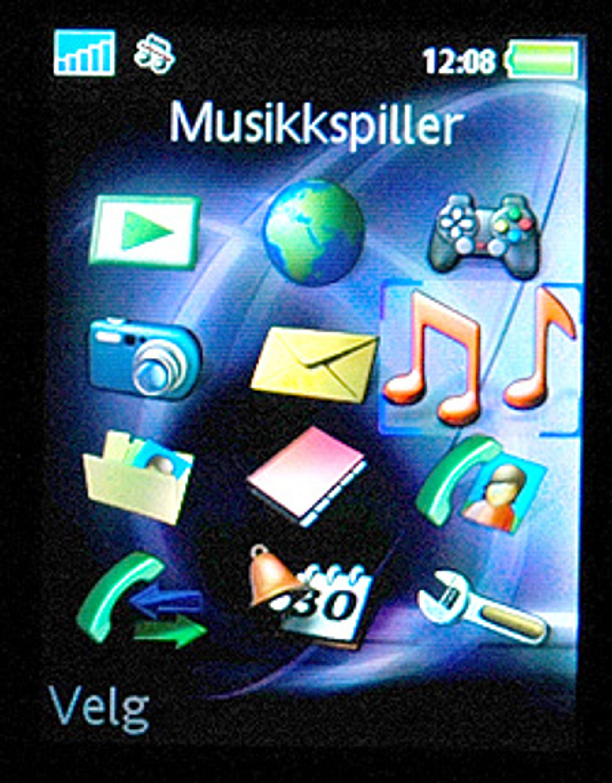 Her finner du musikkspilleren på Sony Ericsson-telefoner.