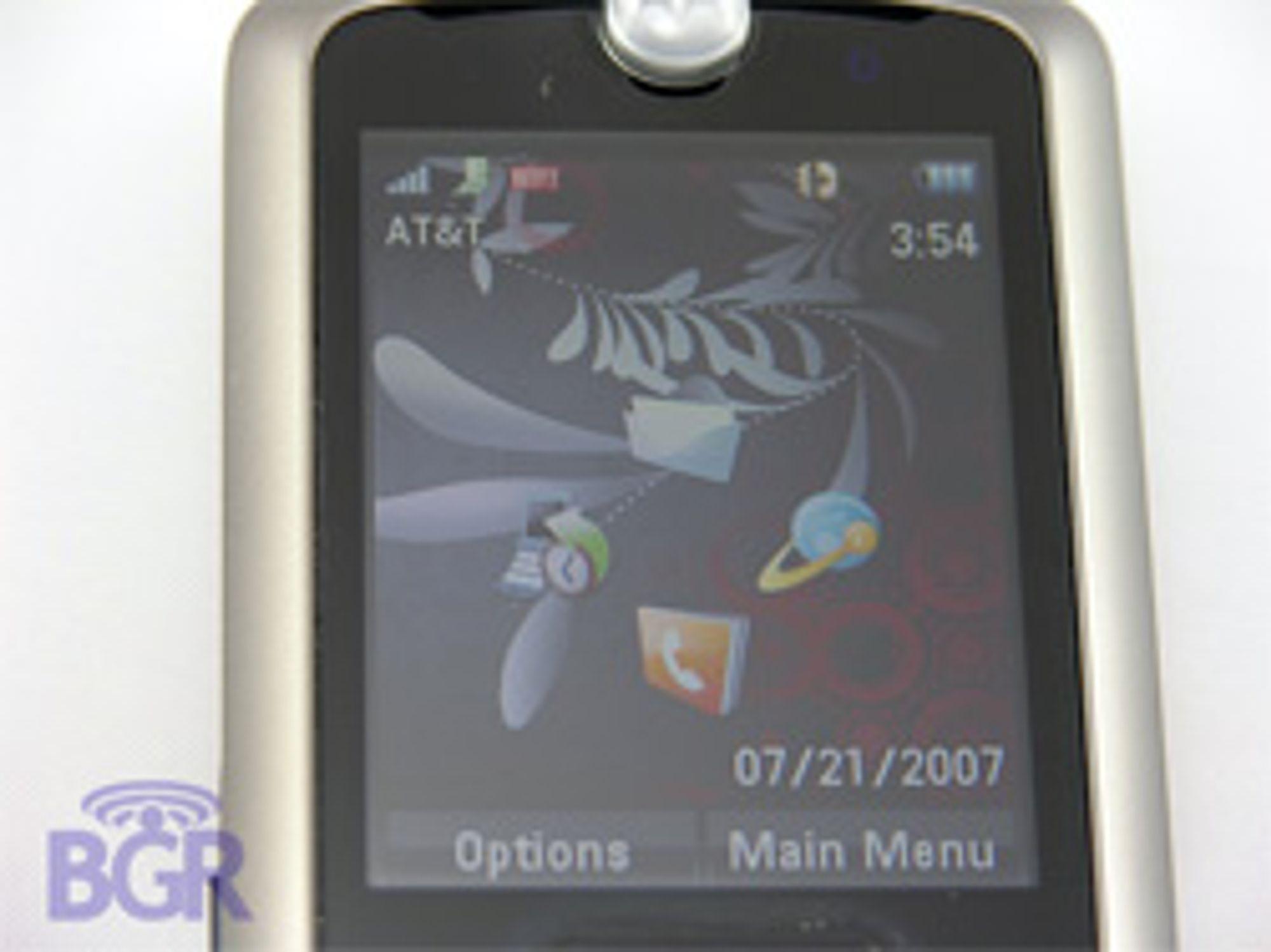 Menyene til Motorola Marco.