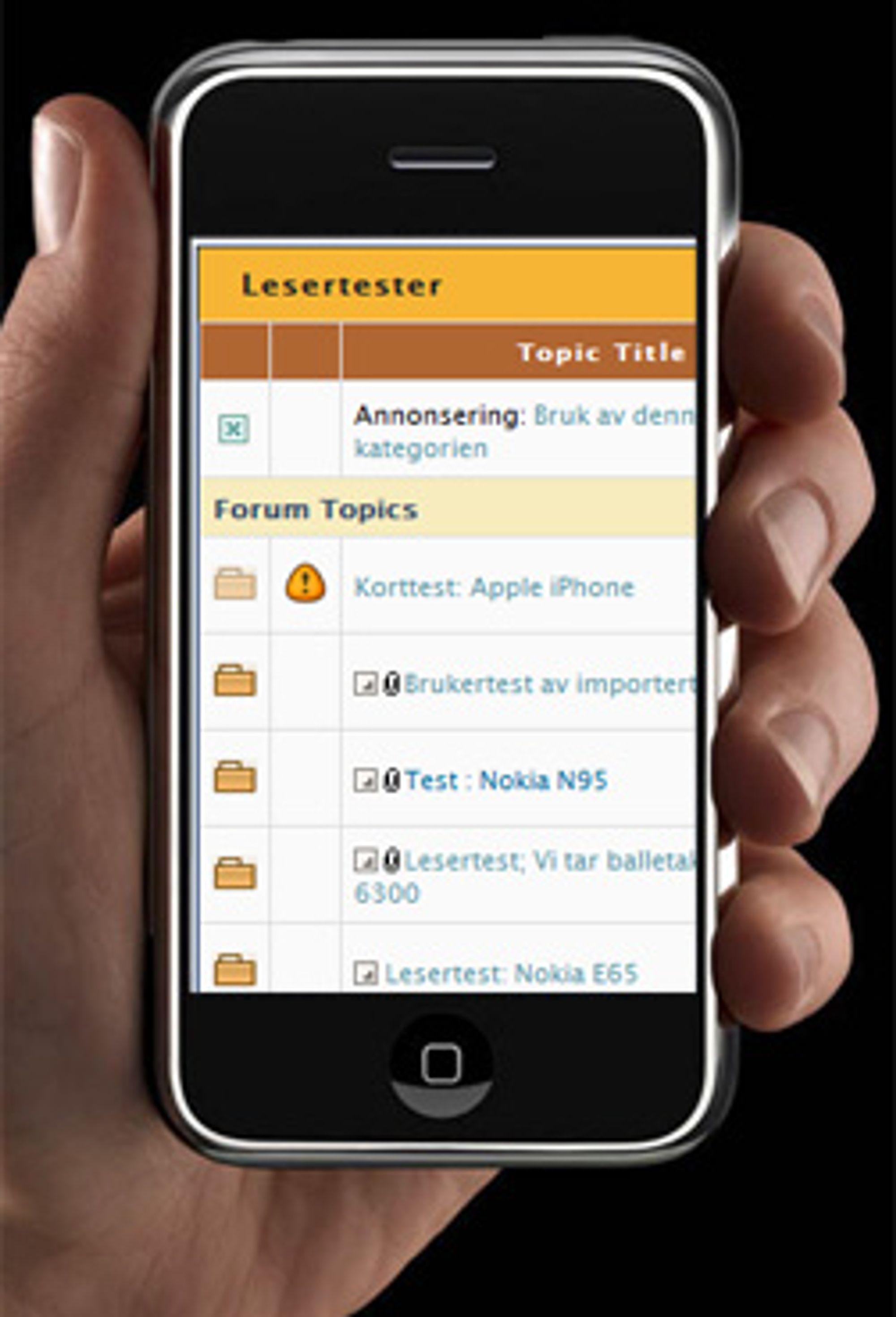 Nå kan du lese iPhone-test i forumet.