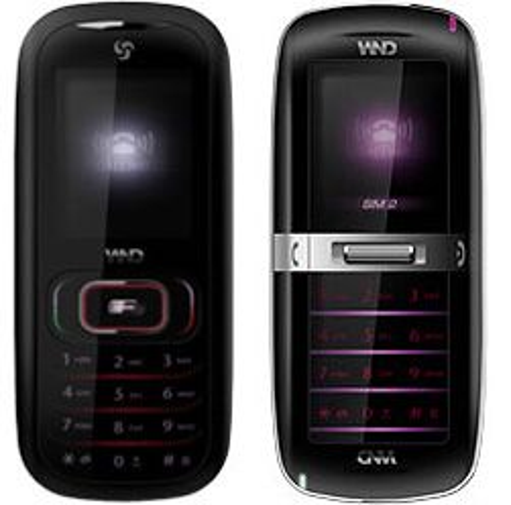 Wnd Van Gogh (t.v.) og Atom er to telefoner med uvanlige funksjoner. (Foto: Wnd)