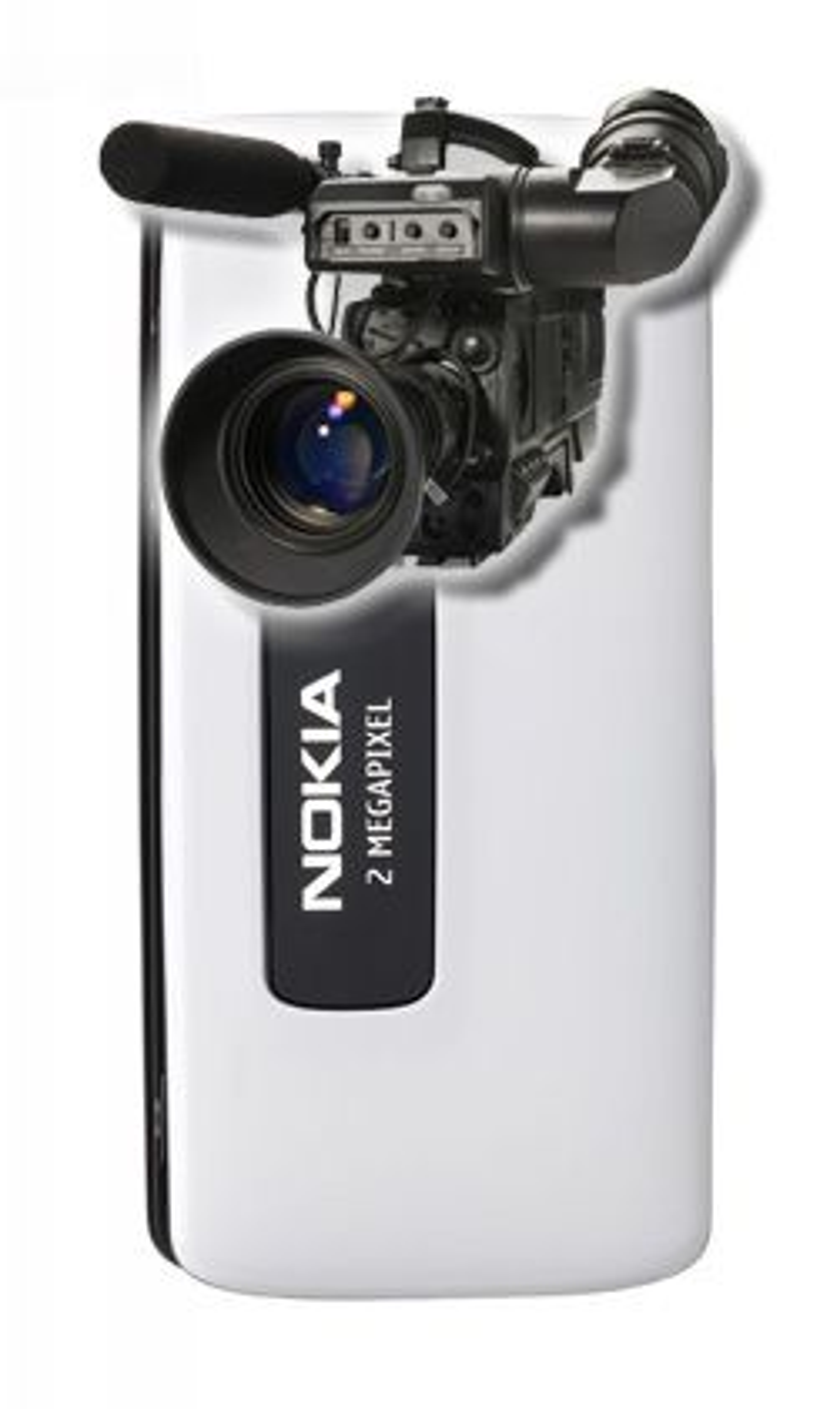 Nokia 6288 er et skikkelig videokamera. (Illustrasjon: Einar Eriksen)