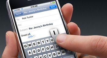 Saksøkes for iPhone-tastatur