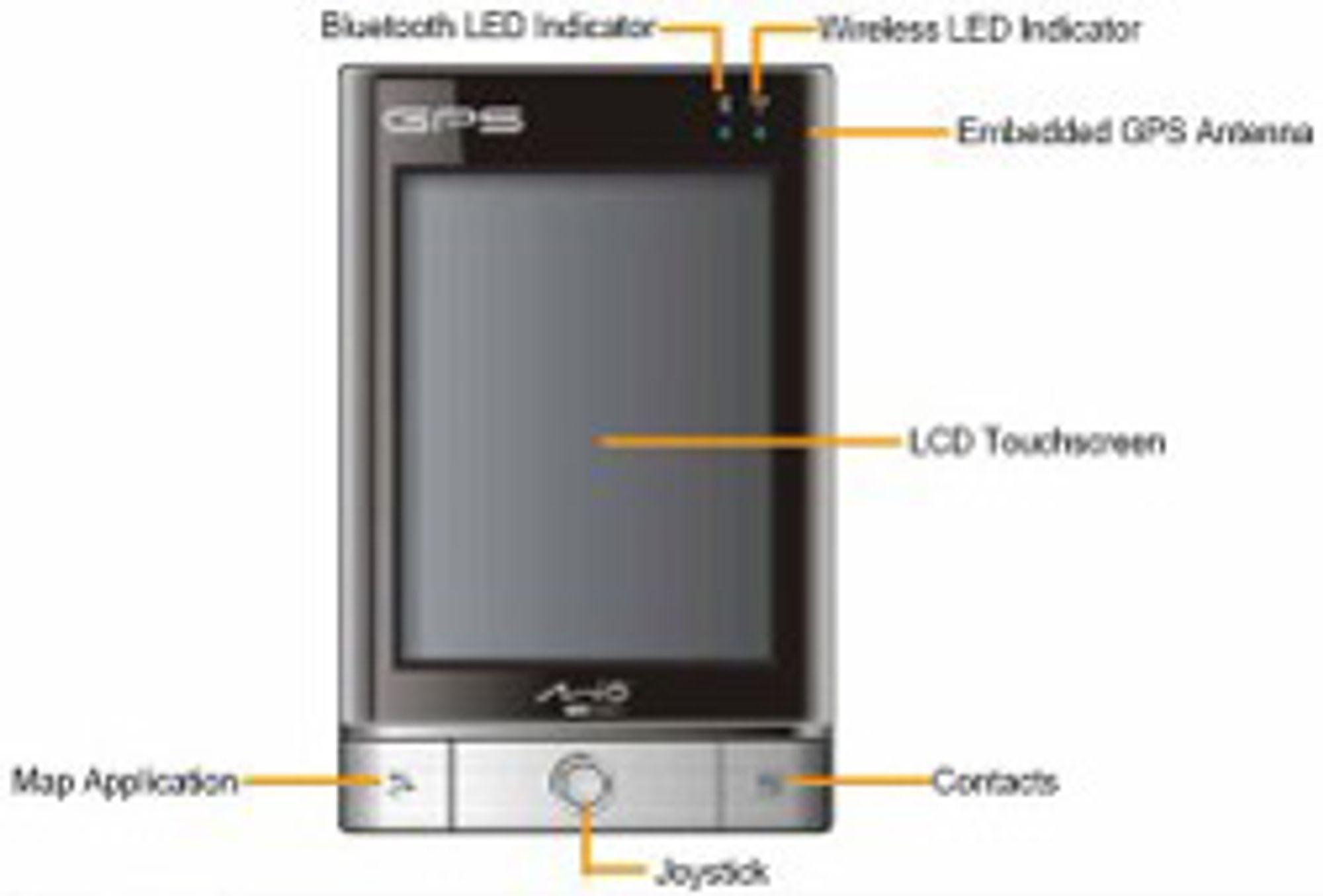 Slik ser Mios neste GPS-PDA ut ifølge ryktene.