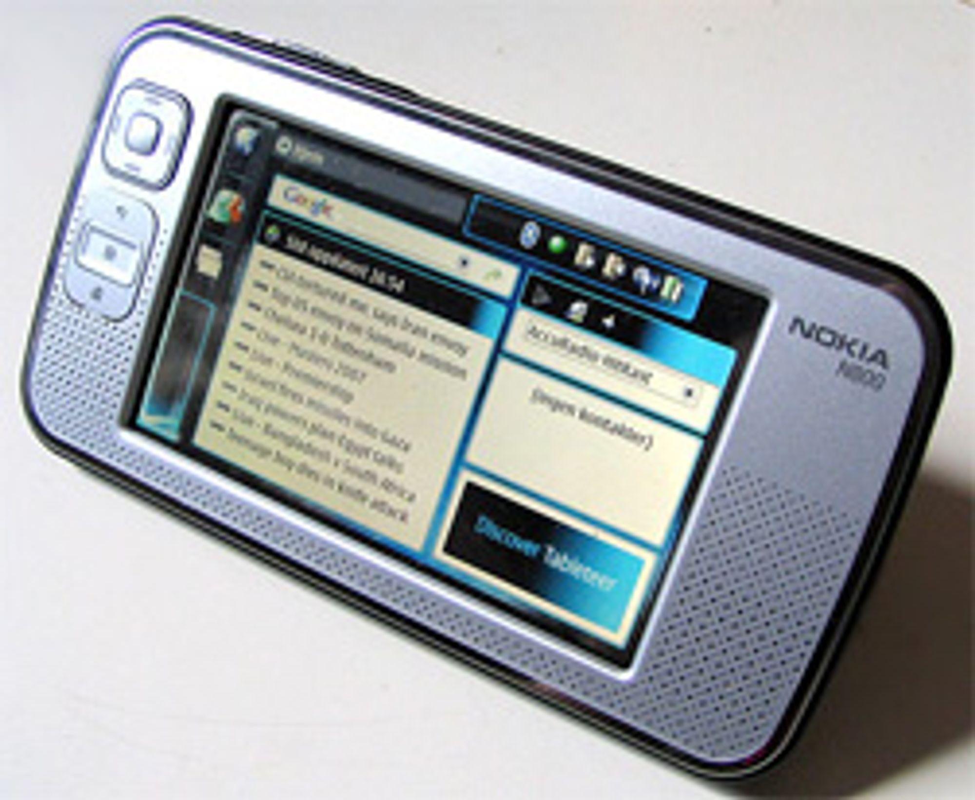 Det går unna i svingene når Nokia N800 får Wimax. (Foto: Marius Valle=