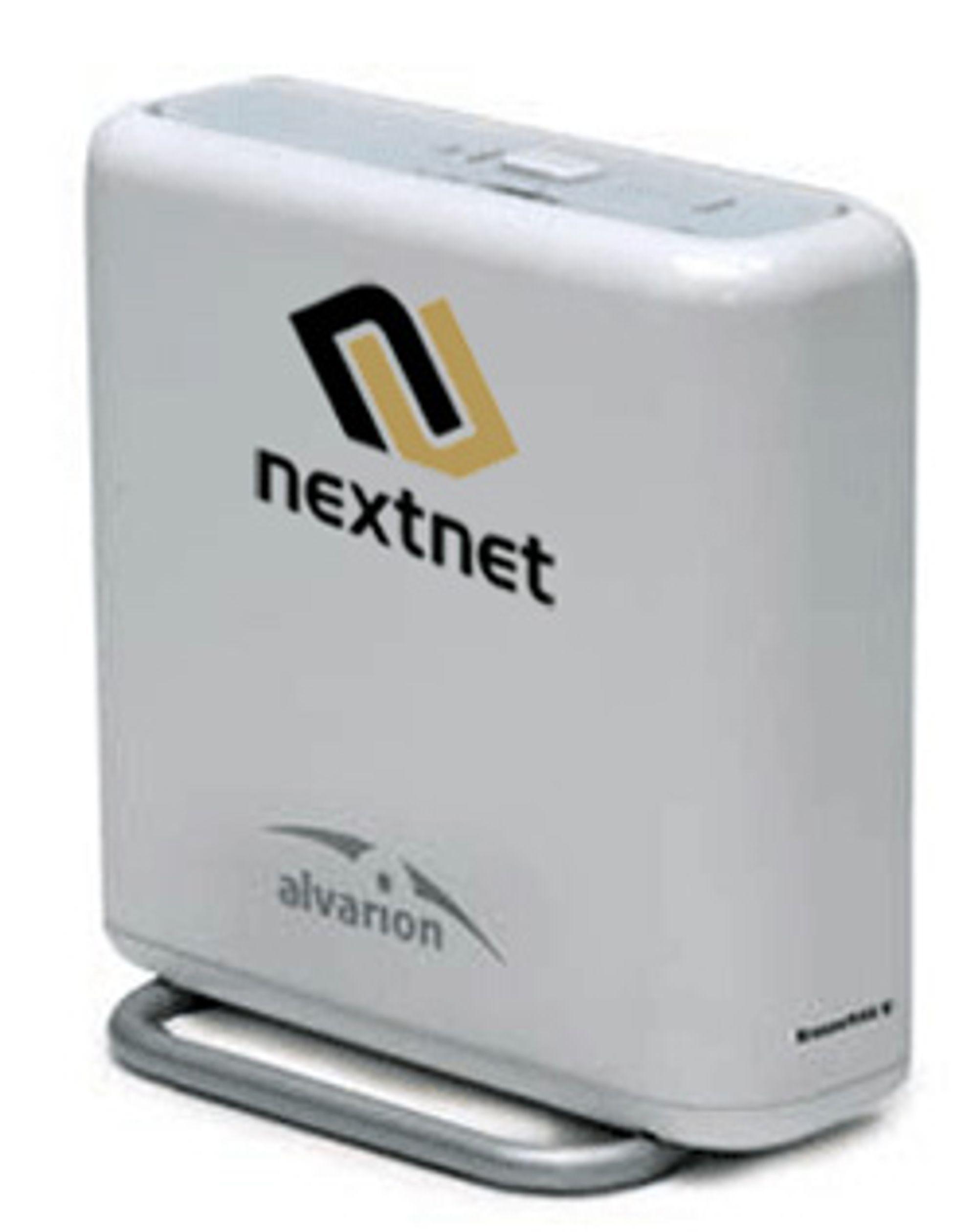 Nextnets mobile Wimax-mottaker. (Foto: Nextnet)