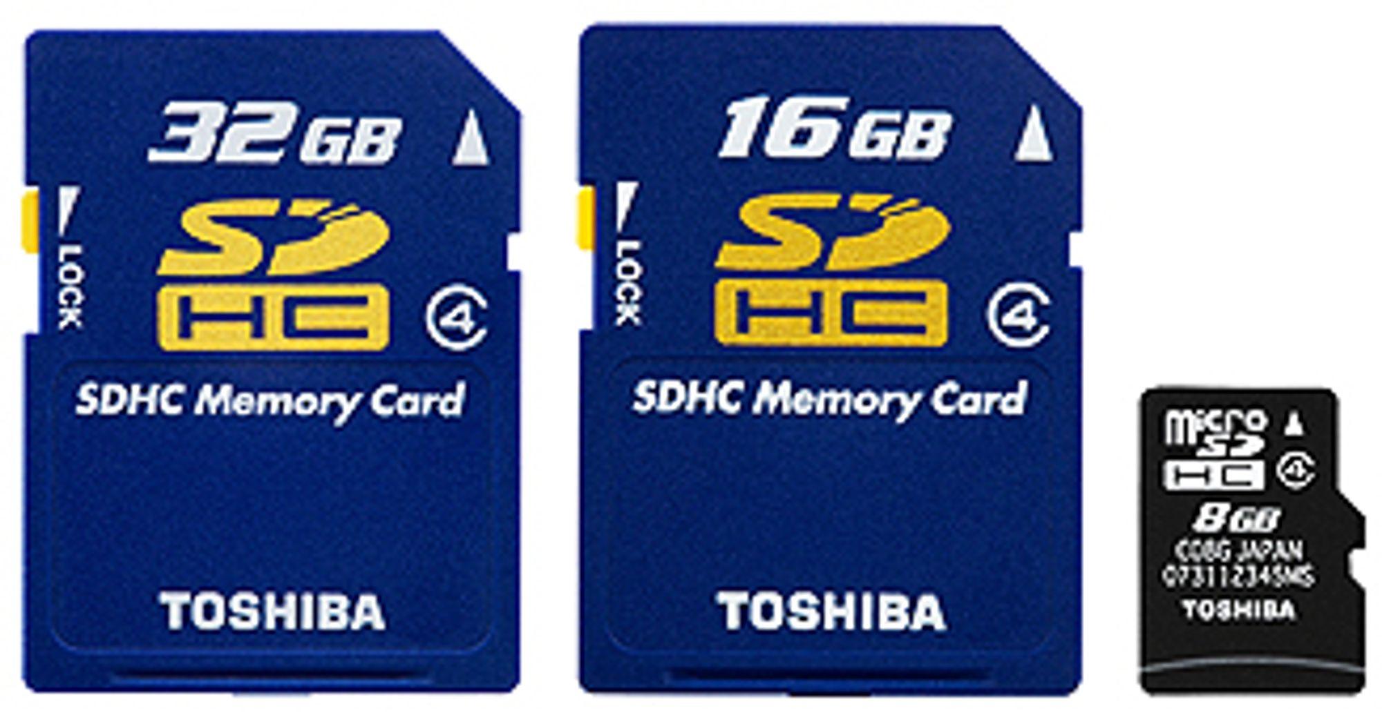 Nye minnekort fra Toshiba.