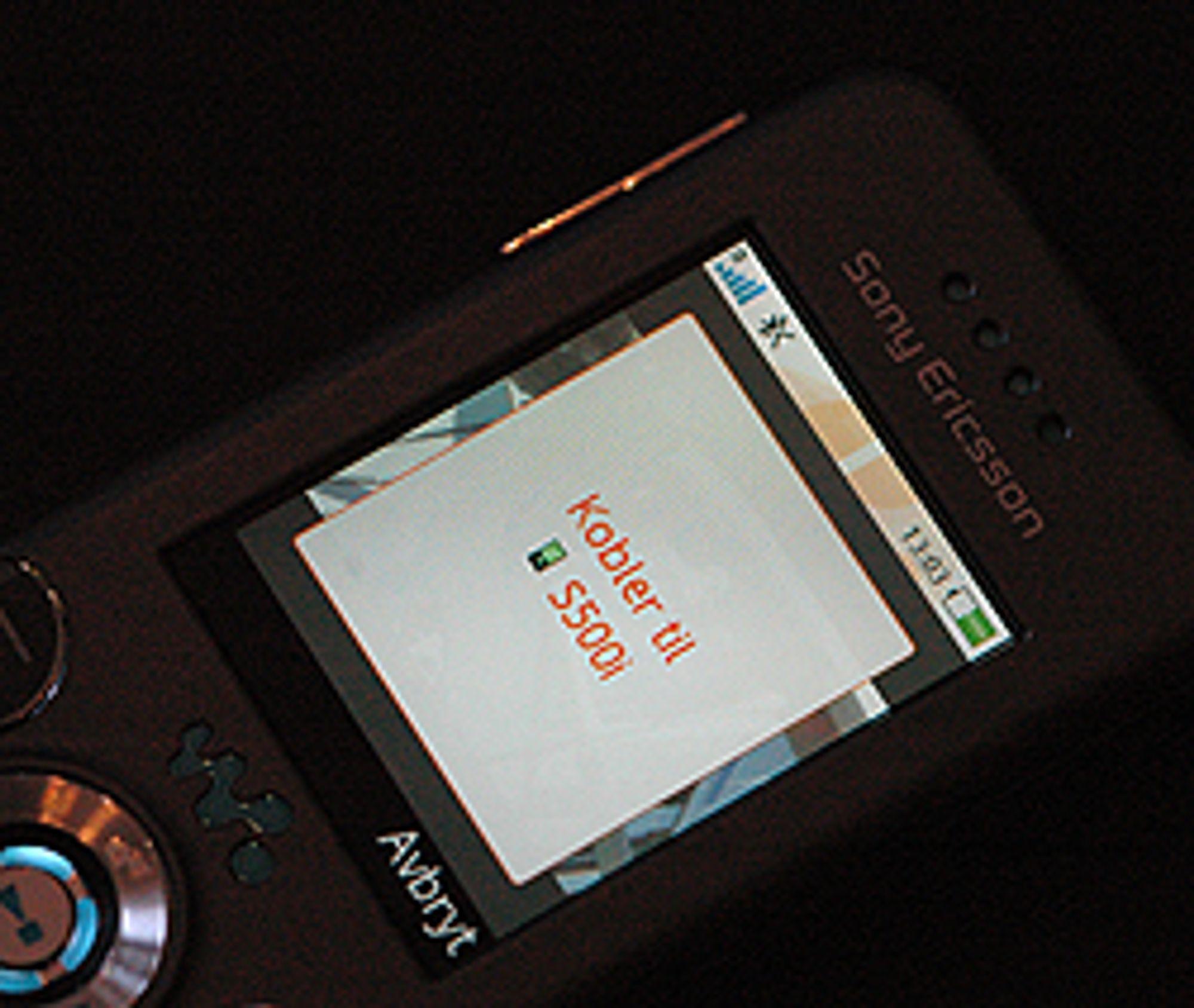 Telefonen vil deretter sende bildet til valgt telefon.