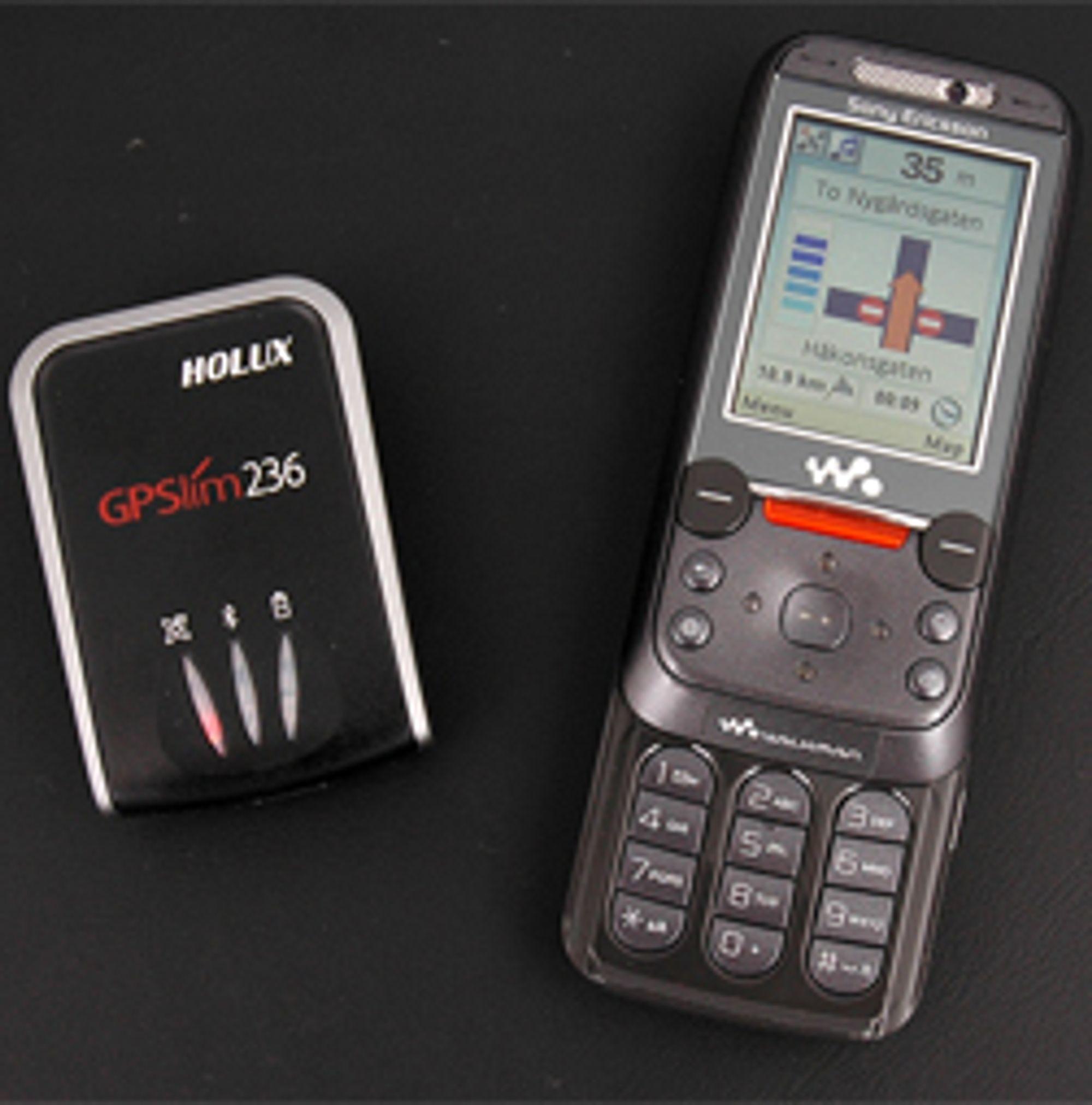 Du trenger en egnet mobil og en Bluetooth-basert GPS-mottaker.