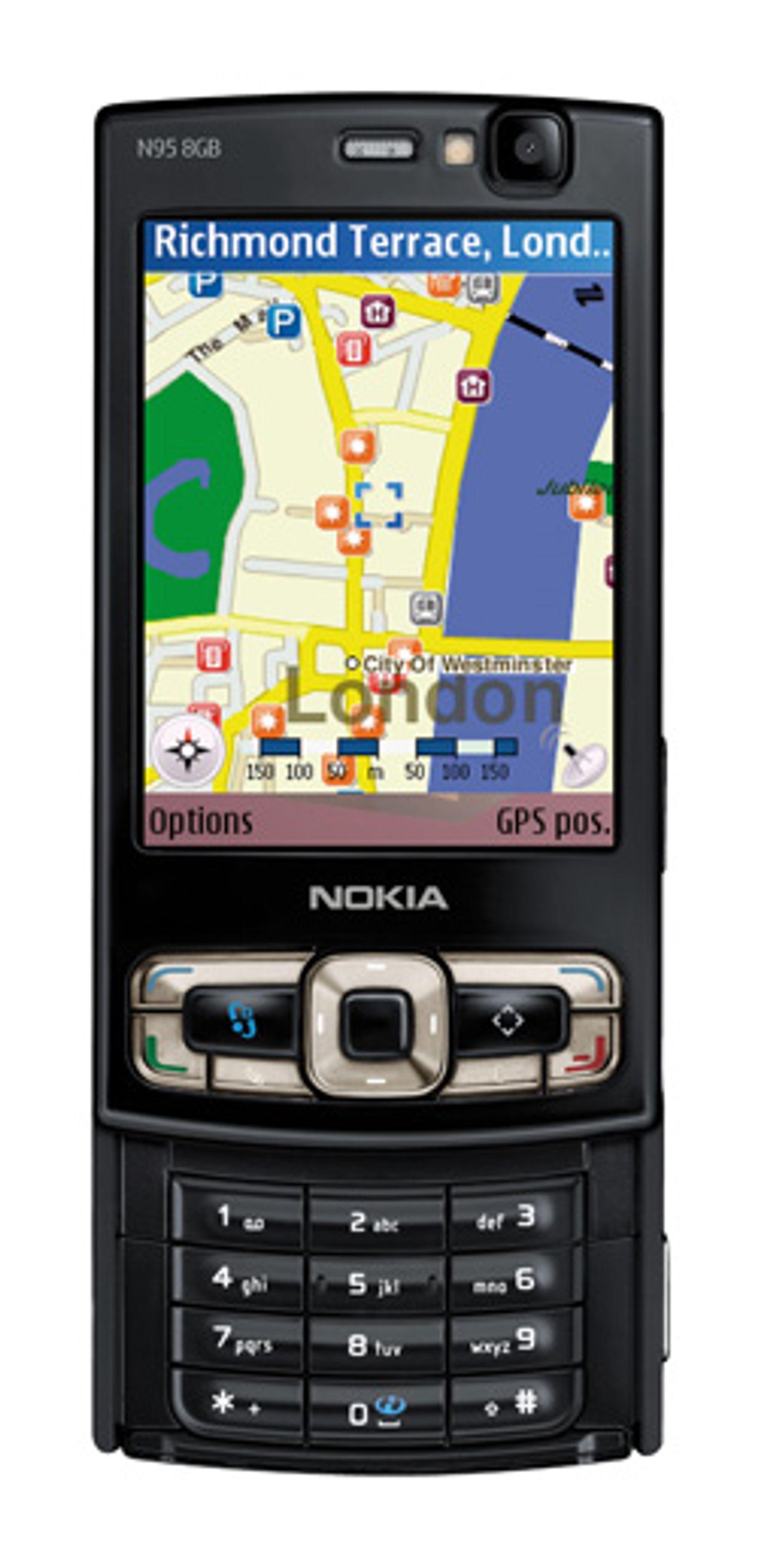 Nokias N95 er den mest kjente GPS-mobilen her til lands.