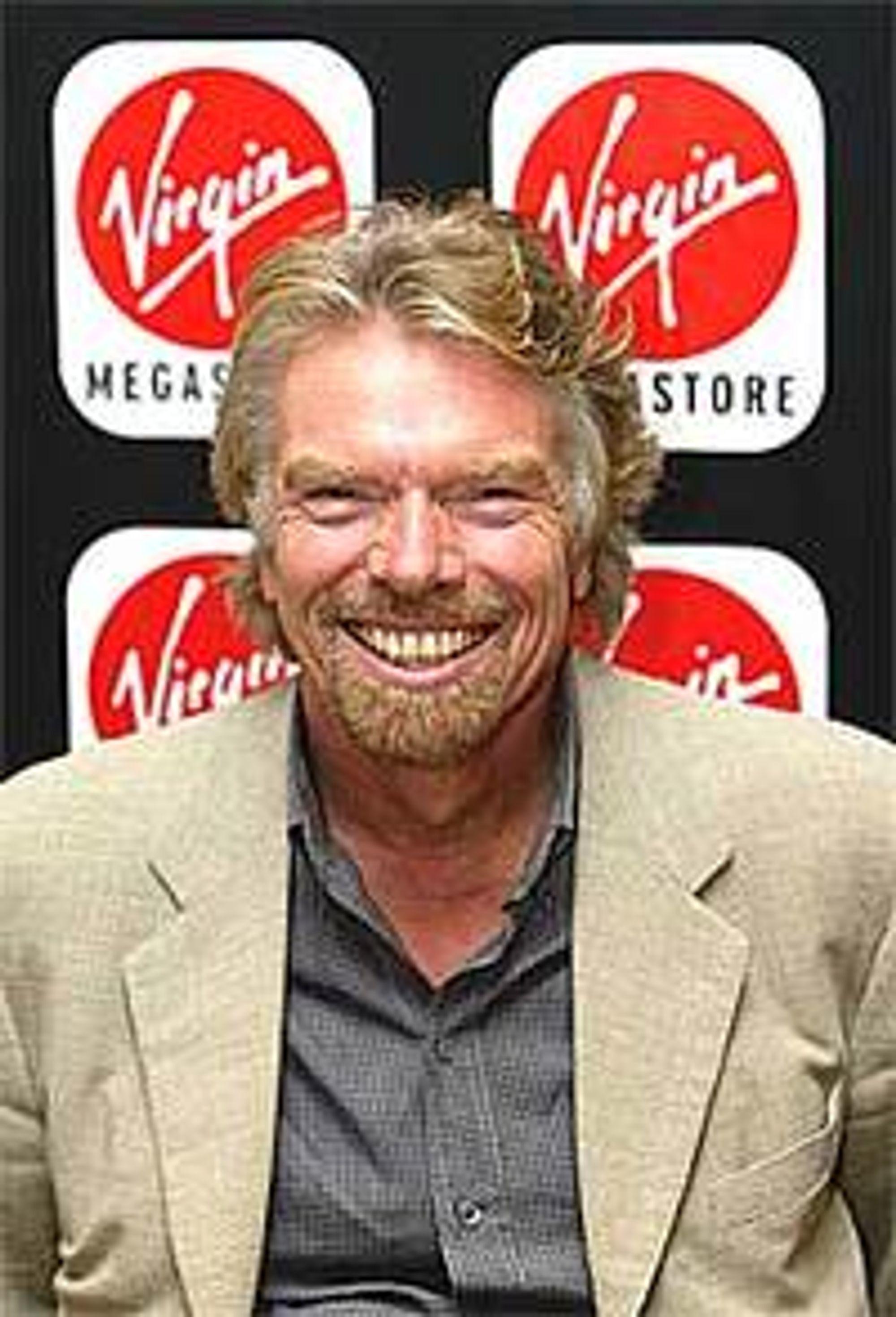 Richard Branson selger unna.