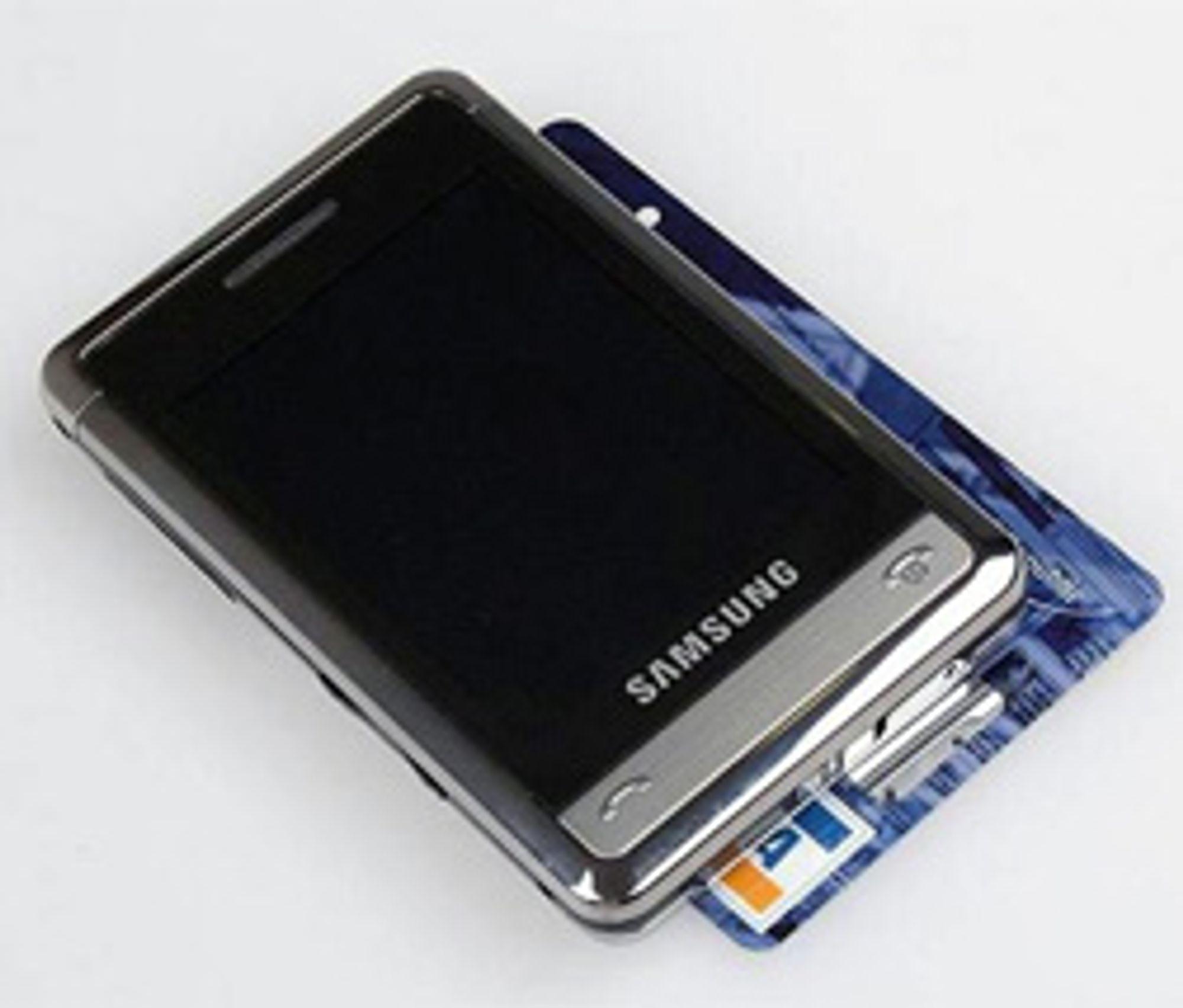 Samsungs Armani-mobil. (Foto: Mobil.cz)