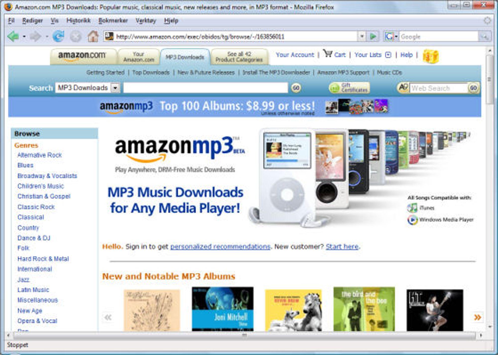 Amazon MP3 klar - Tek no