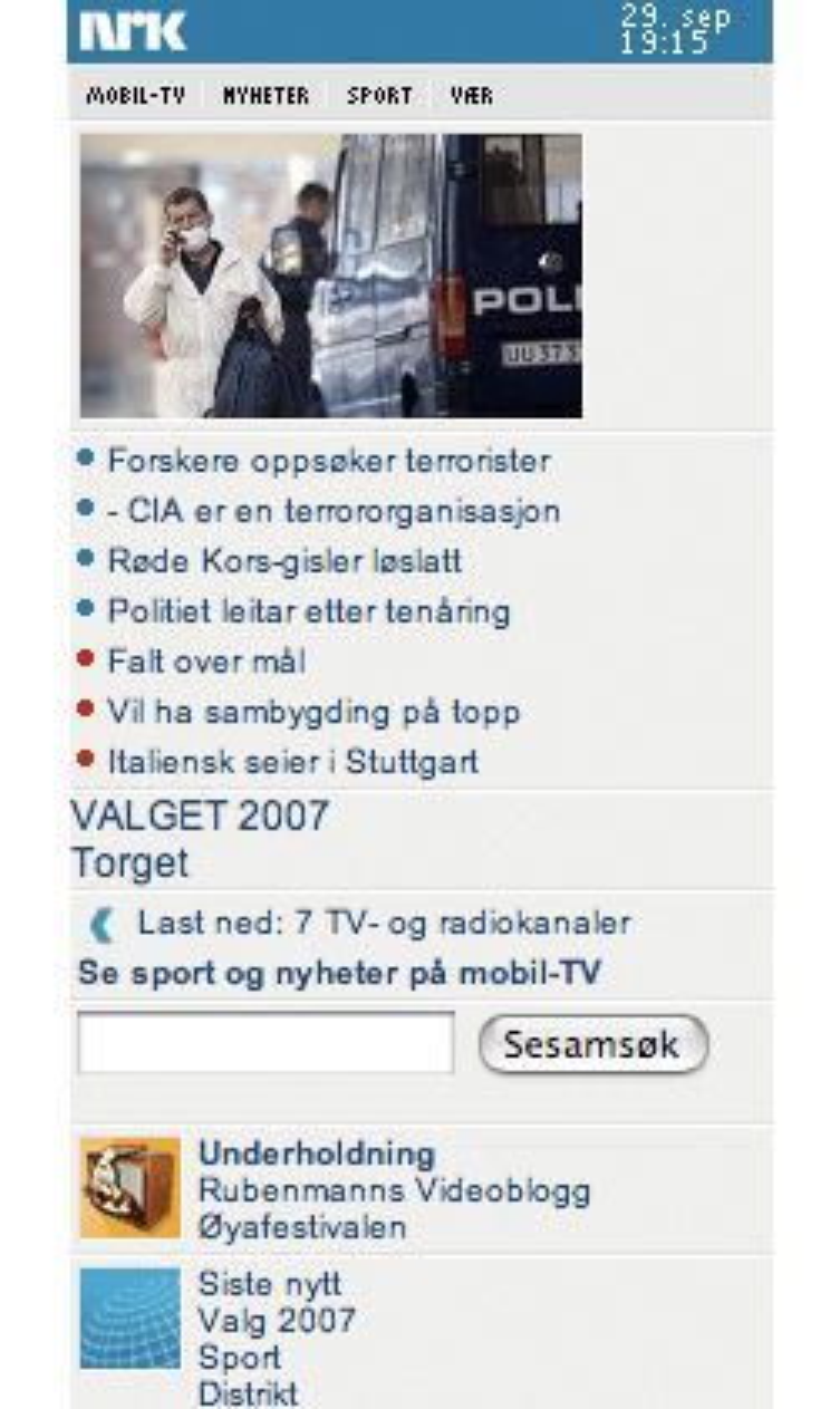 Halogen mener NRKs mobilside har god oversikt.