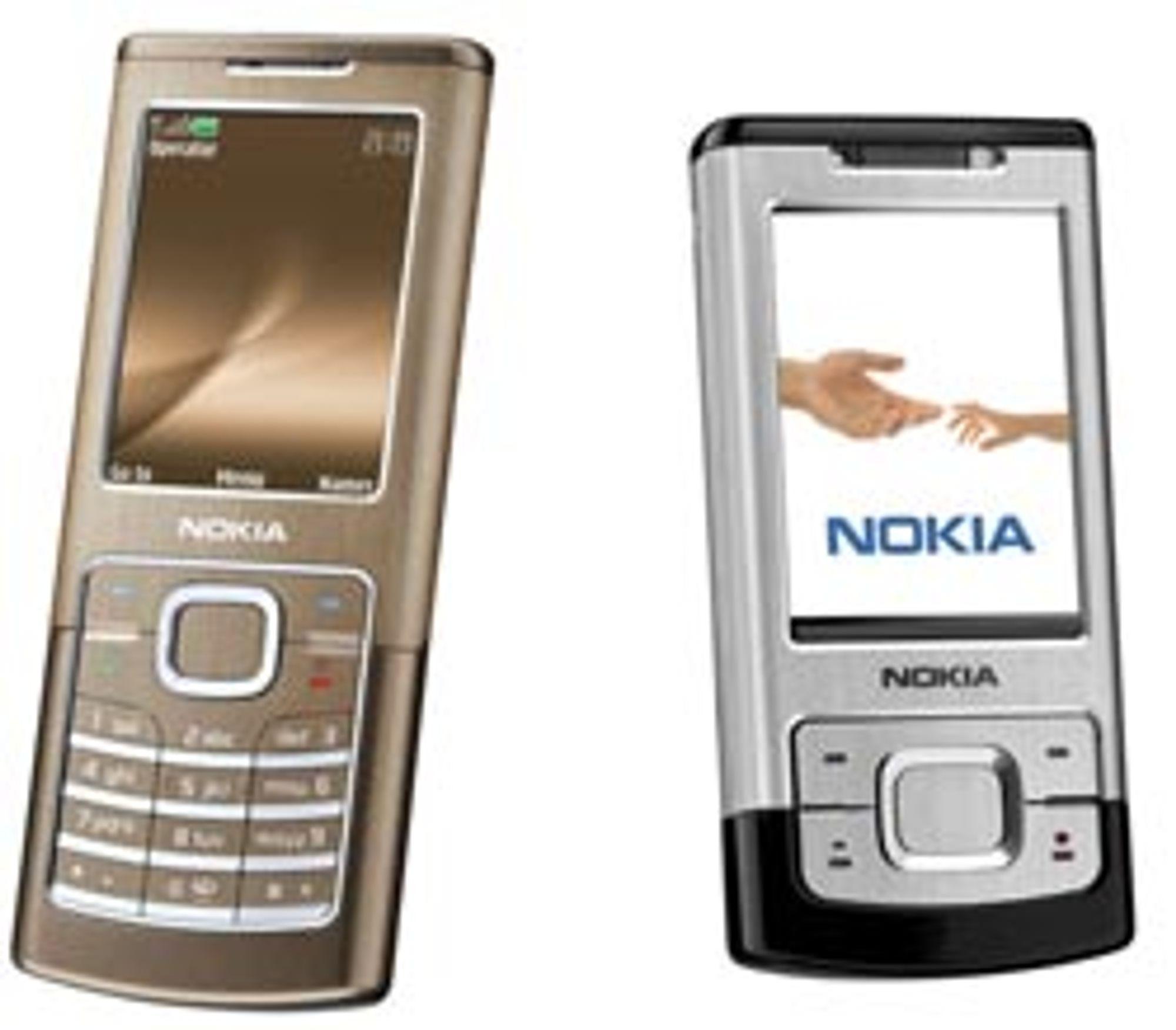 Nokia 6500 Classic og Slide kommer i løpet av oktober.