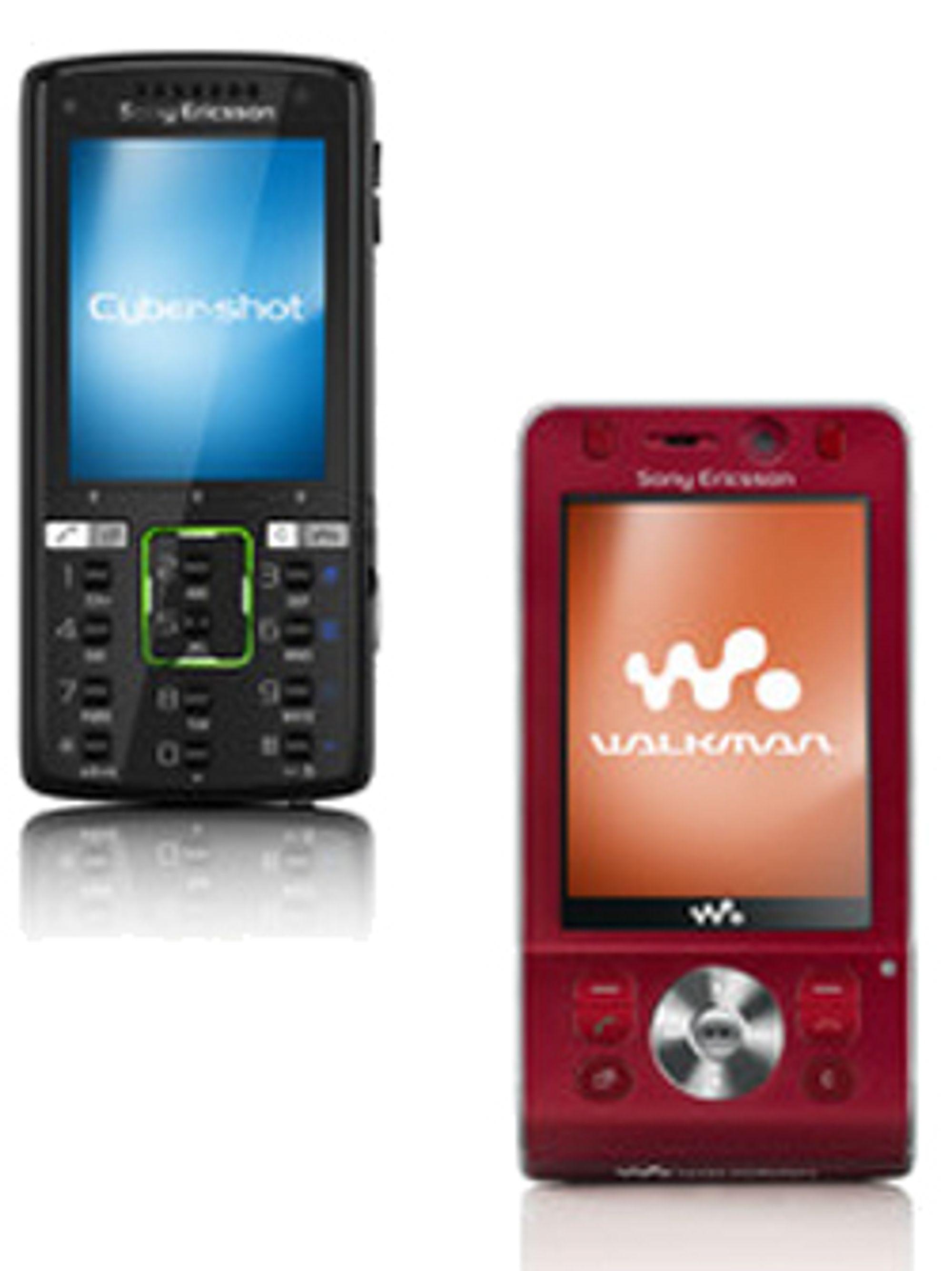 K850i (til venstre) og W910i er to super-3G-mobiler som kommer fra Sony Ericsson denne måneden.