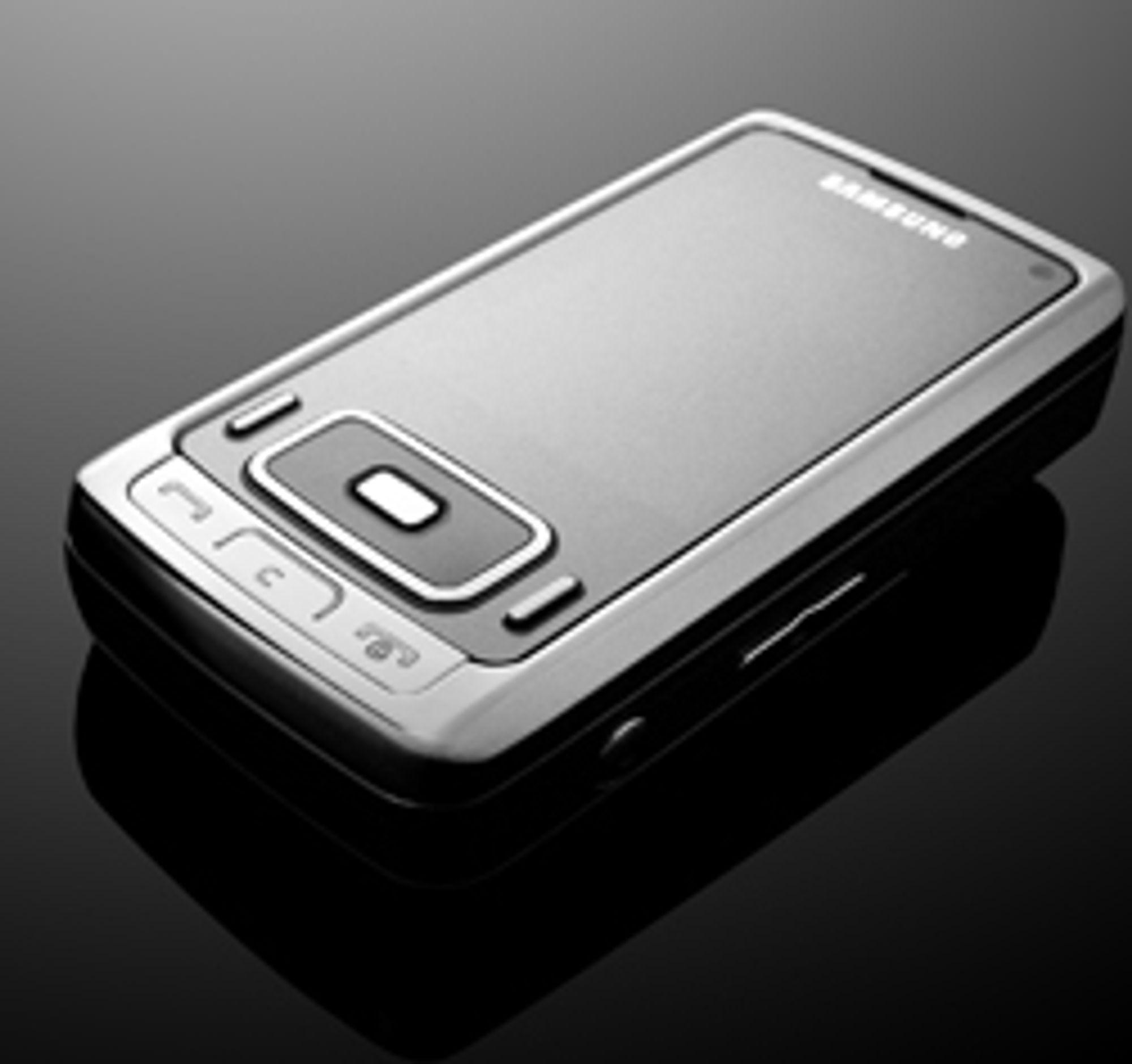Telefonen er laget i metall.