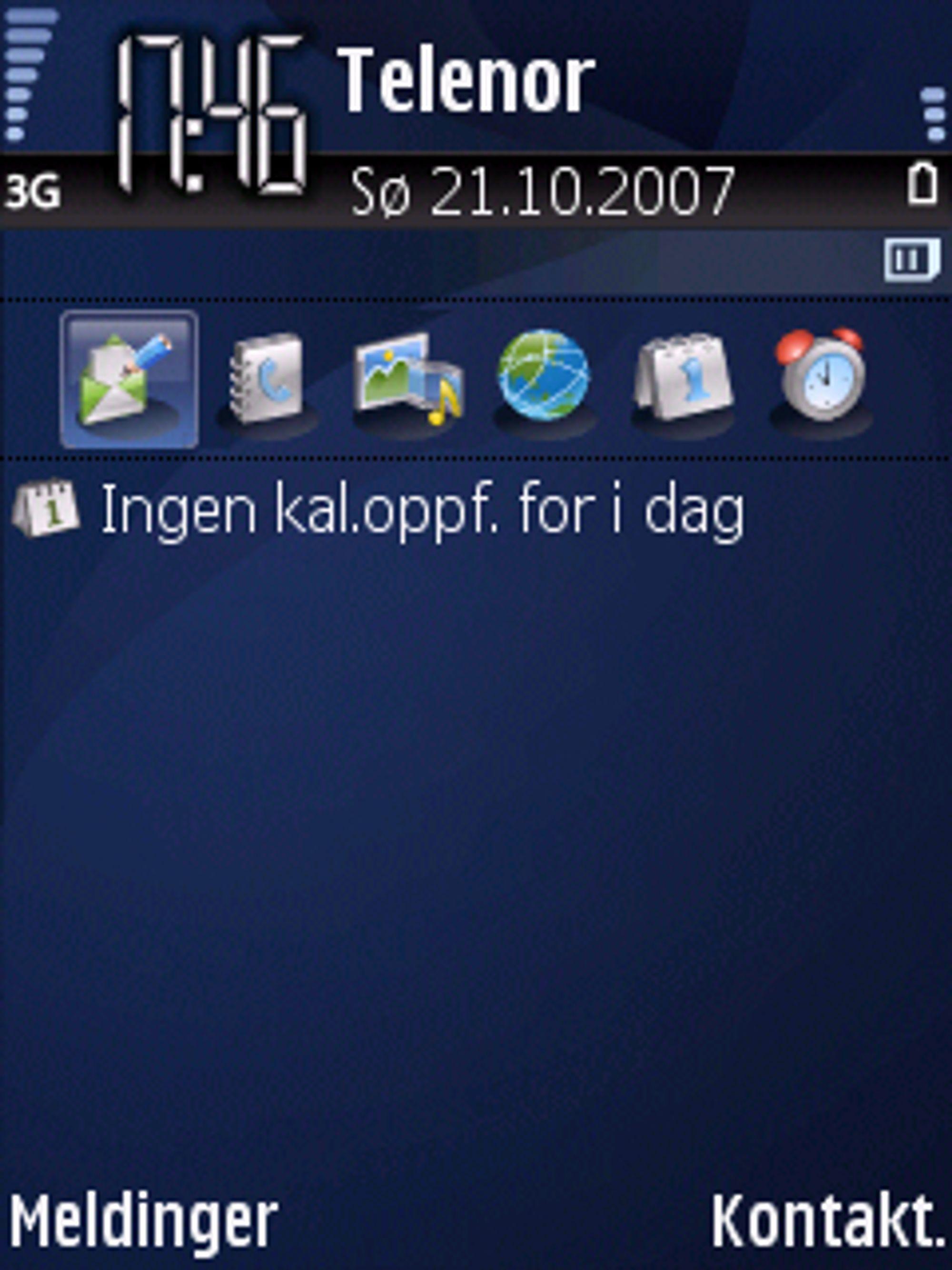 Dette er svært likt det du finner på Nokia Series 60-telefoner.