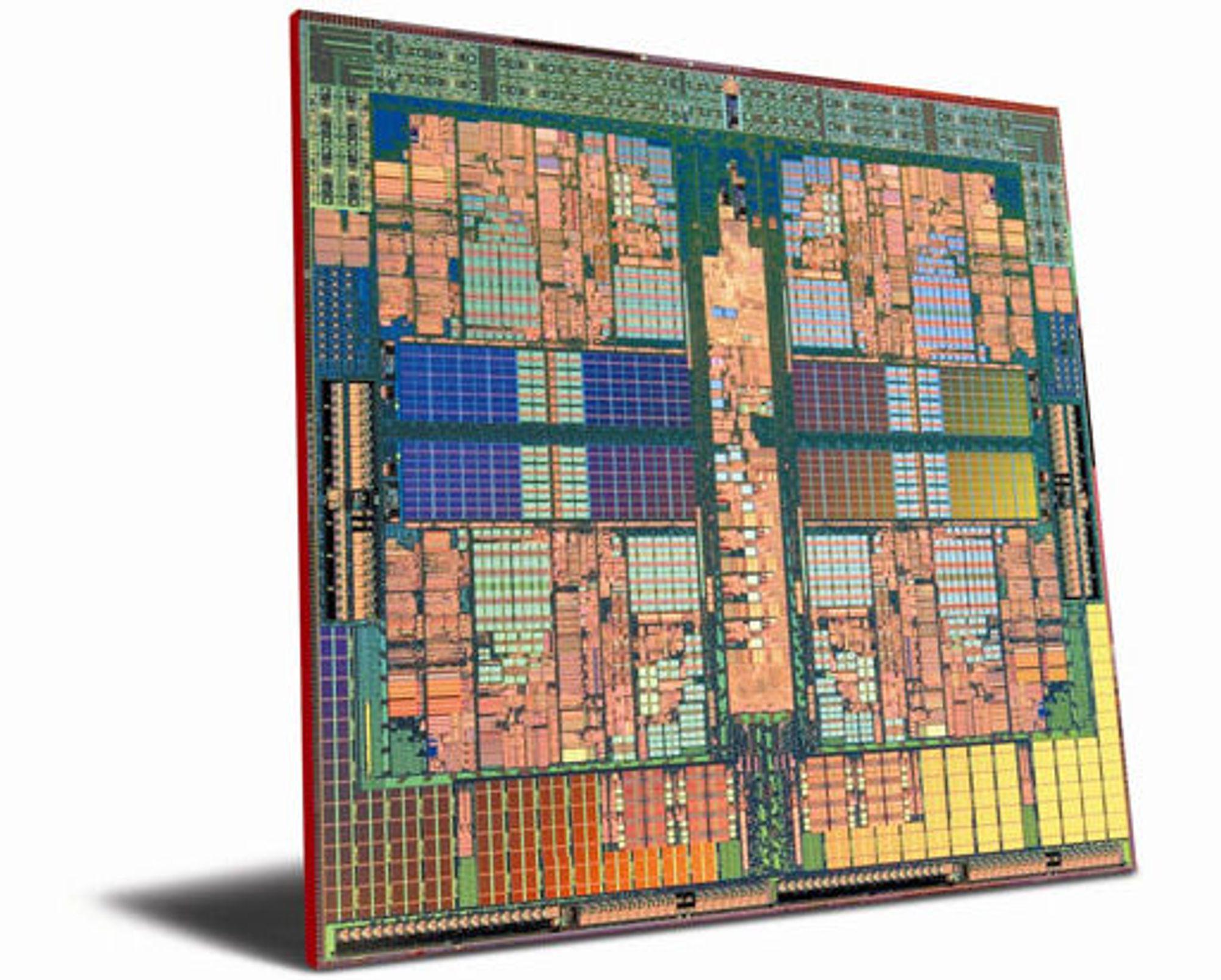 Bildet viser Phenom, som i første generasjon lages med 65 nm