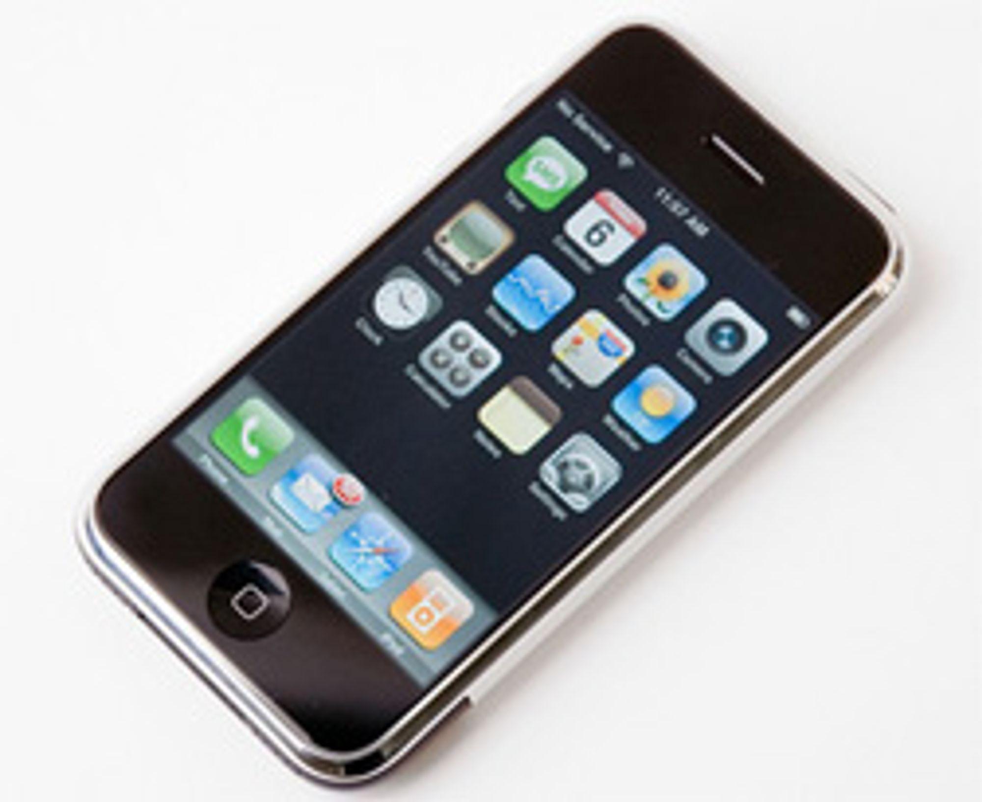 Iphone får fast månedspris i Tyskland. (Foto: Simen J. Willgohs)