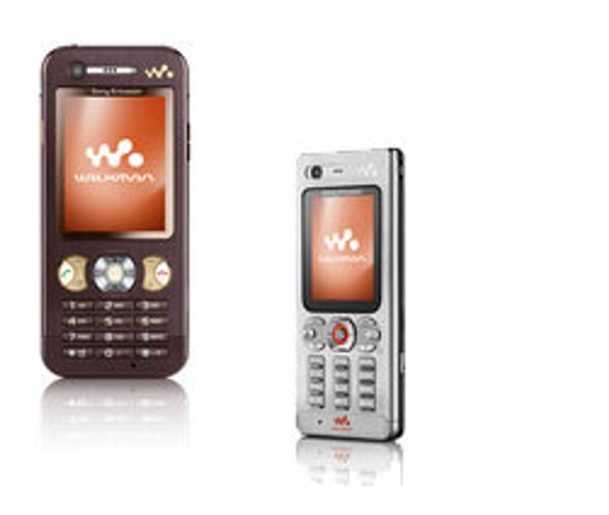 Fra venstre: Sony Ericsson W890i og W880i.
