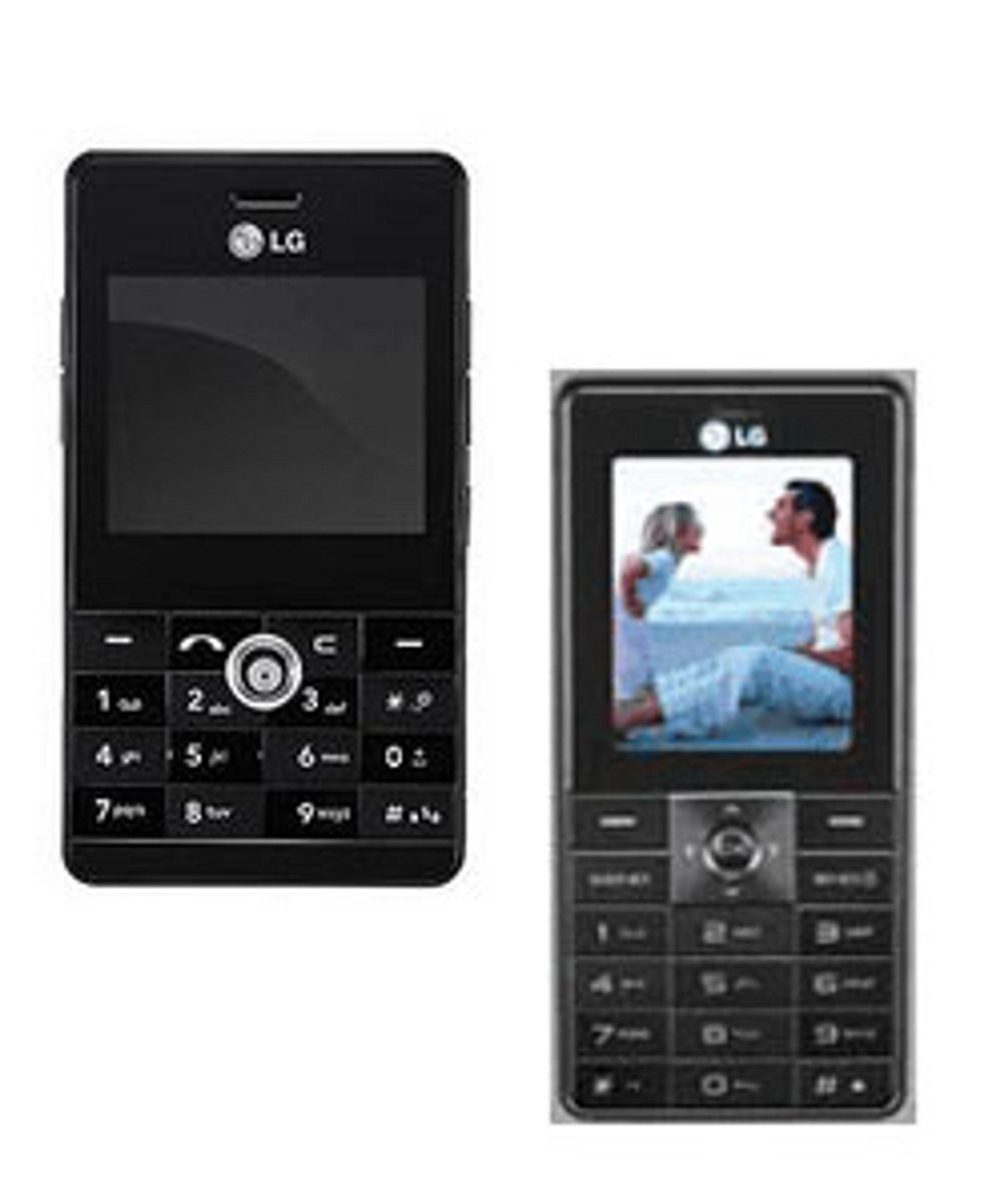 Fra venstre: LG KE820 og KG320.