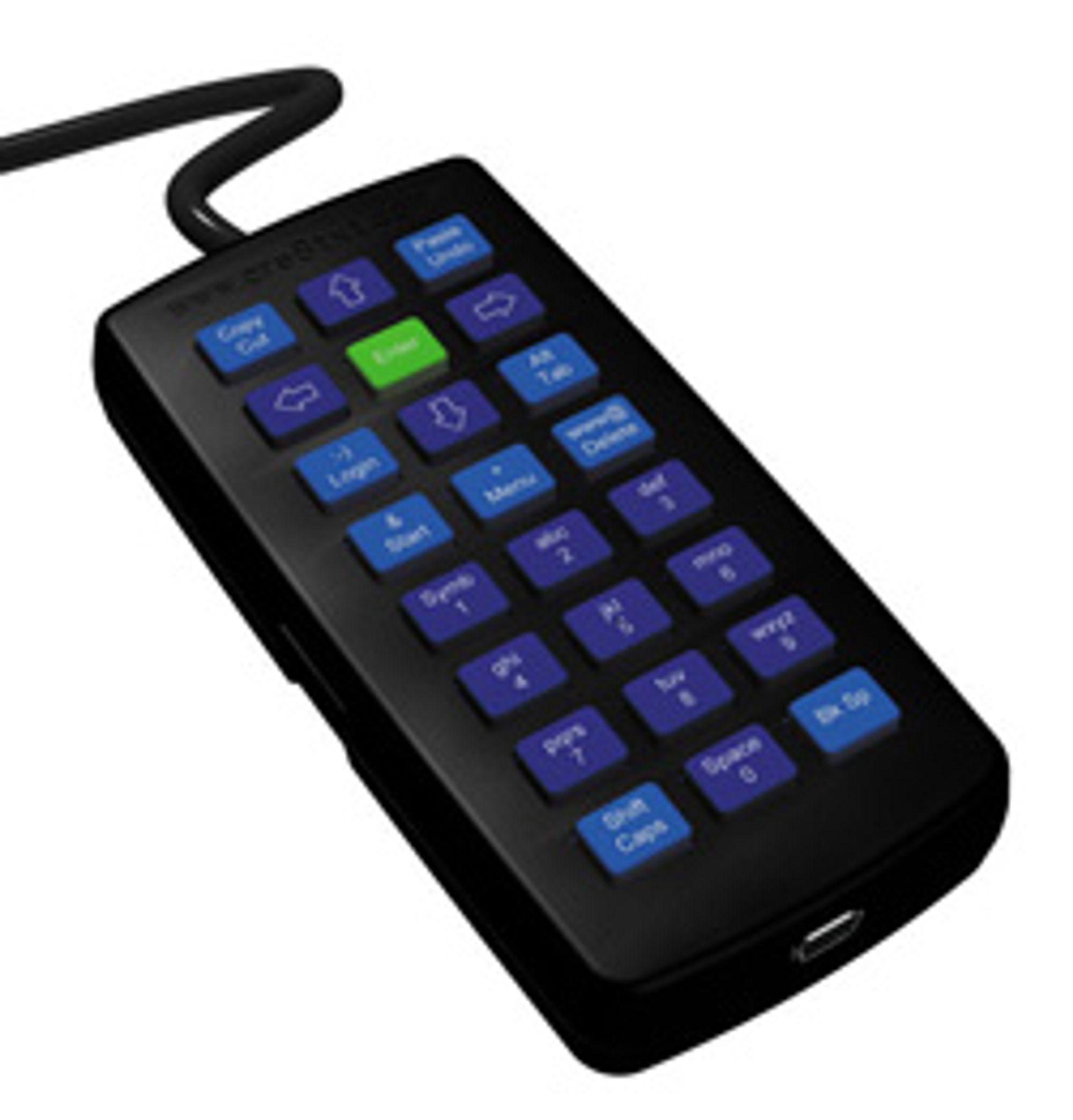 Slik ser SMS-tastaturet til PC ut. (Foto: Cre8txt)