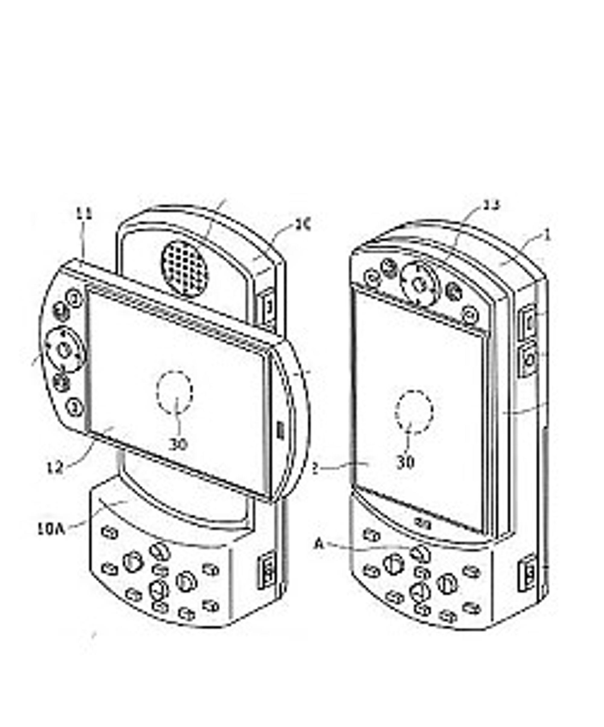 Dette bildet er fra et patent Sony Ericsson fikk før sommeren.