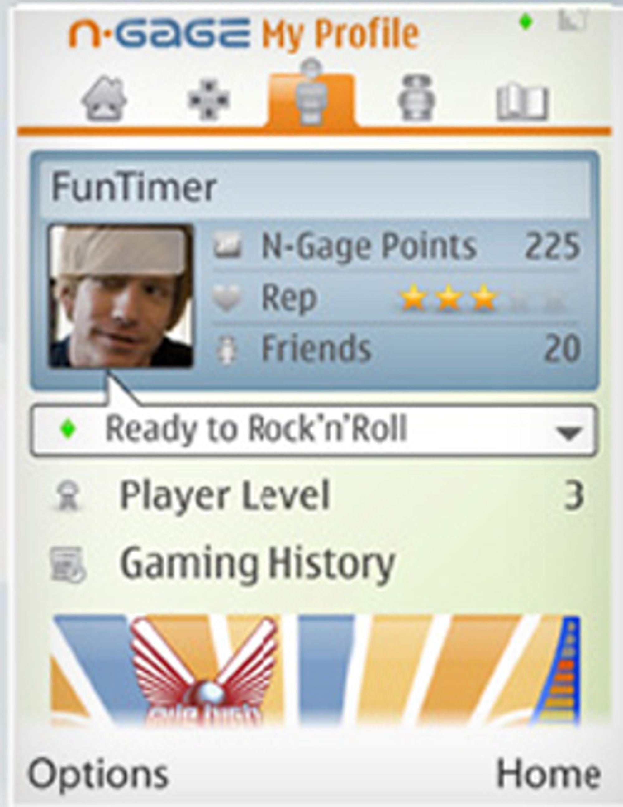 N-Gage får et eget nettsamfunn som blir tiglgjengelig fra mobilen. (Foto: Nokia)