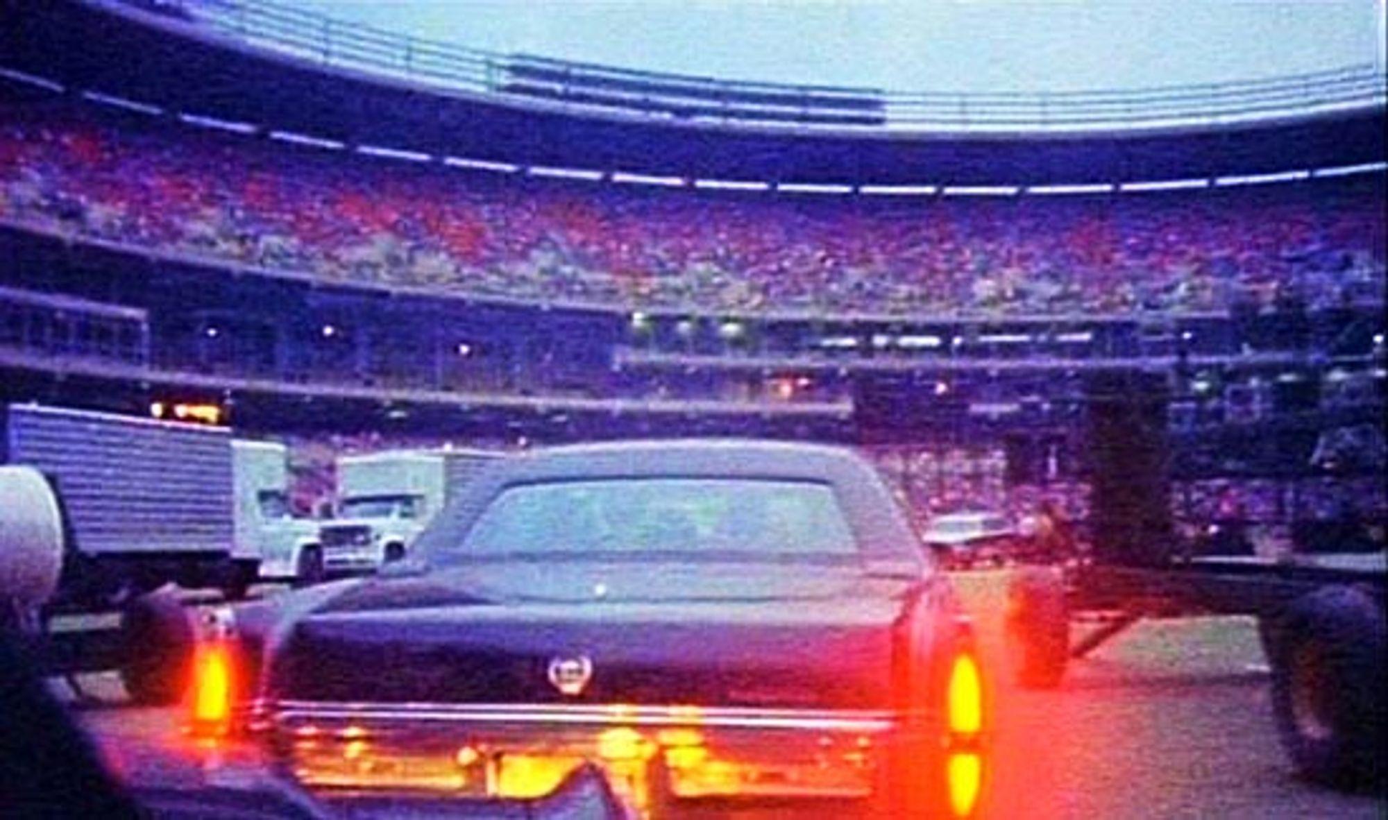 Verdens da største rockeband ankommer stadion standsmessig.
