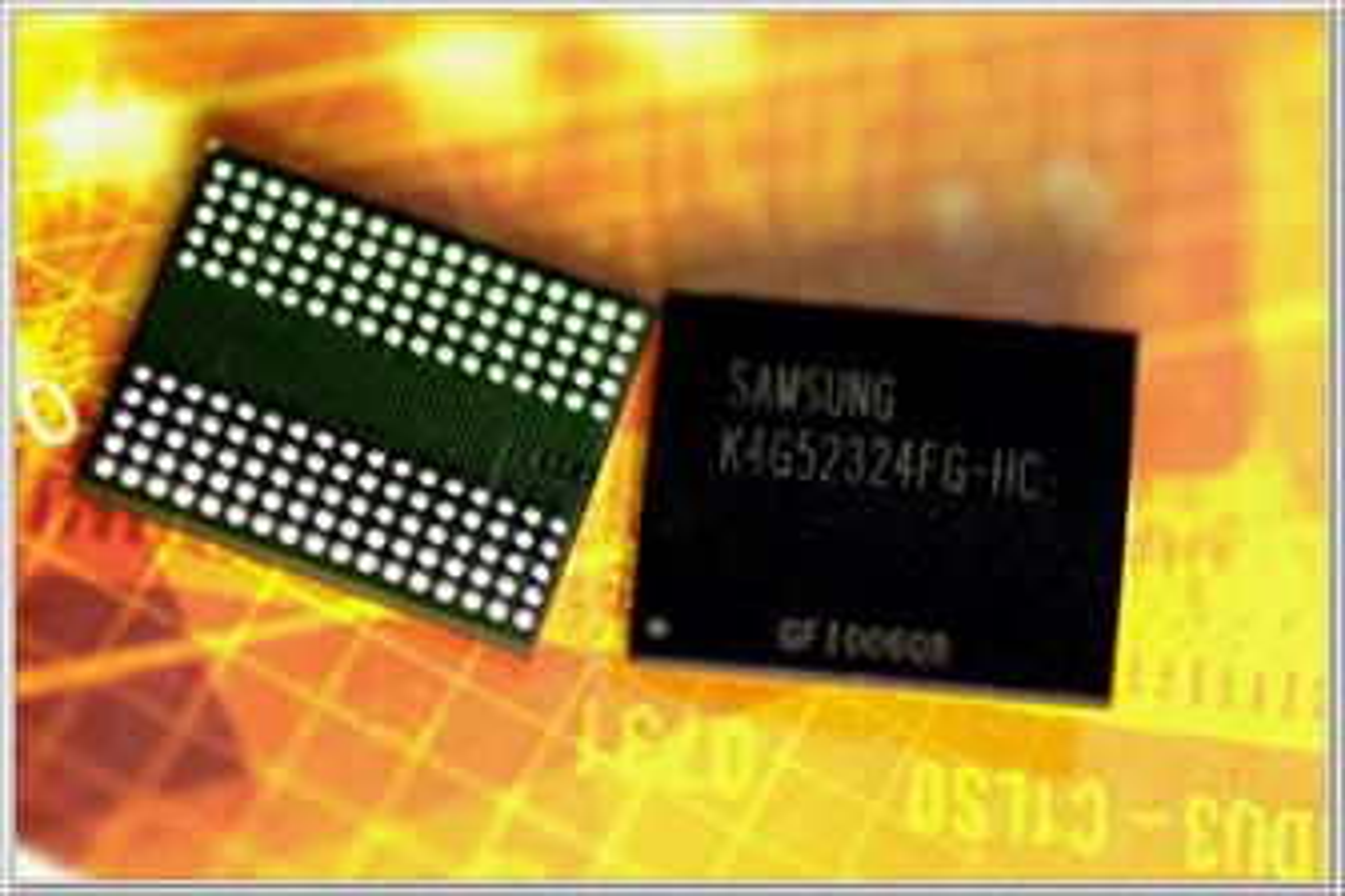 Samsung GDDR5-minne (kilde: Digitimes)
