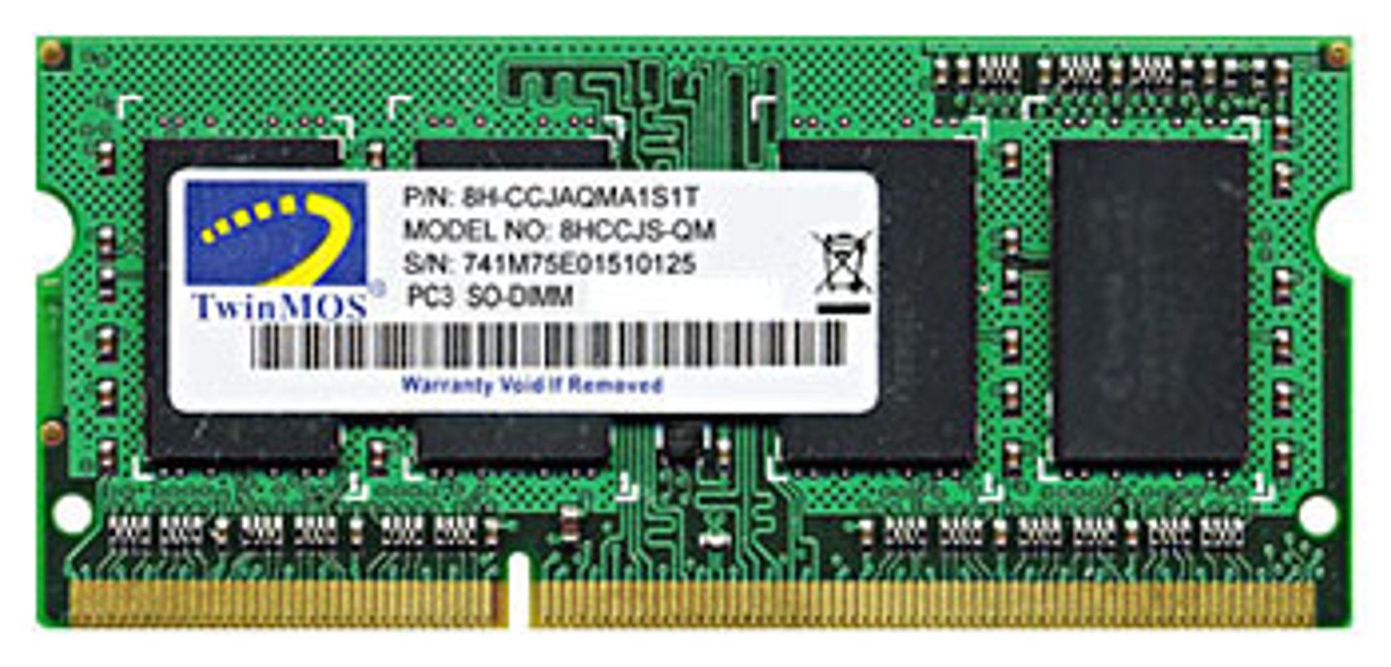 Twinmos DDR3 SO-DIMM takler 1333 MHz effektivt