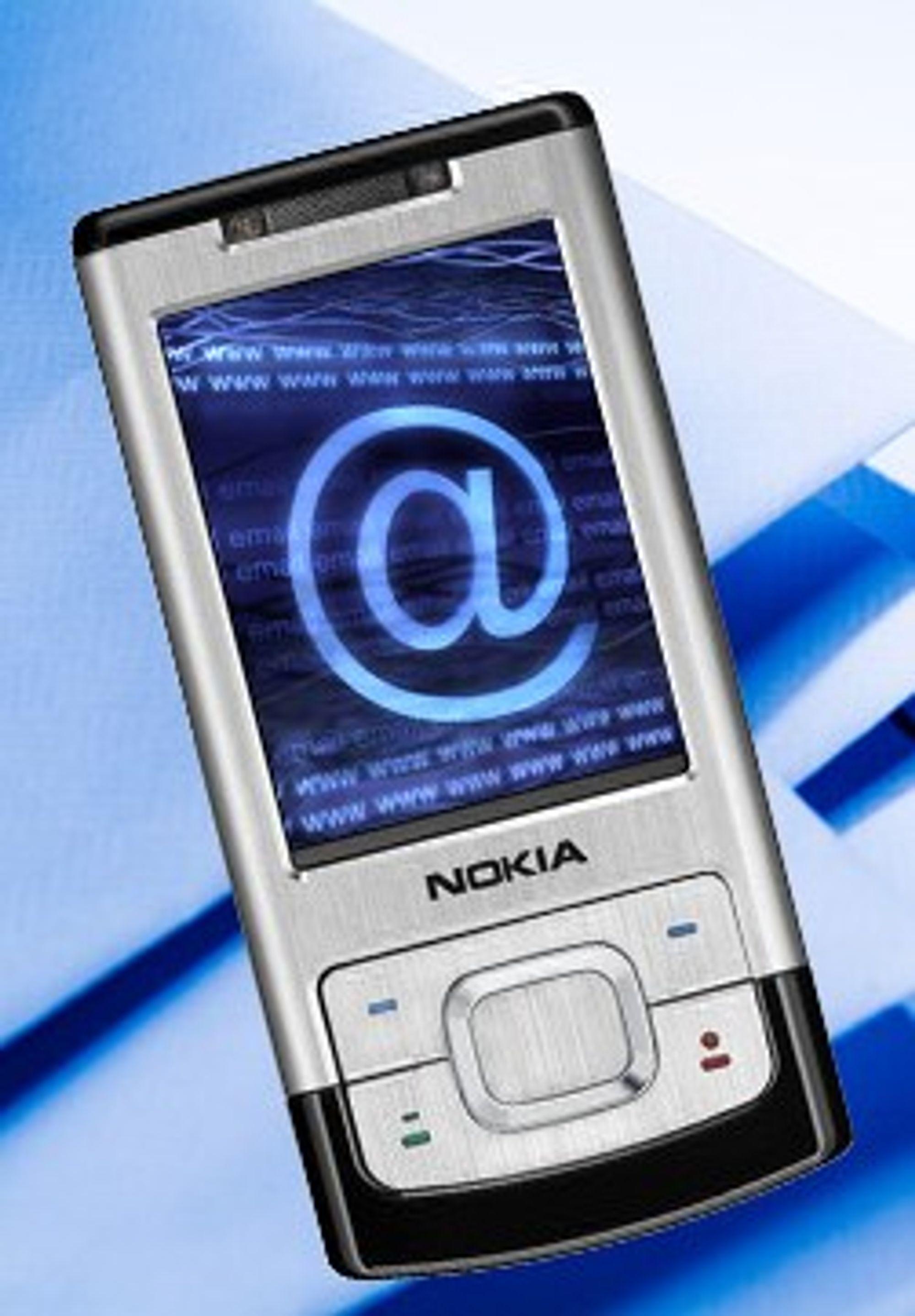 Mobiler er ofte utmerket gode e-postlesere.