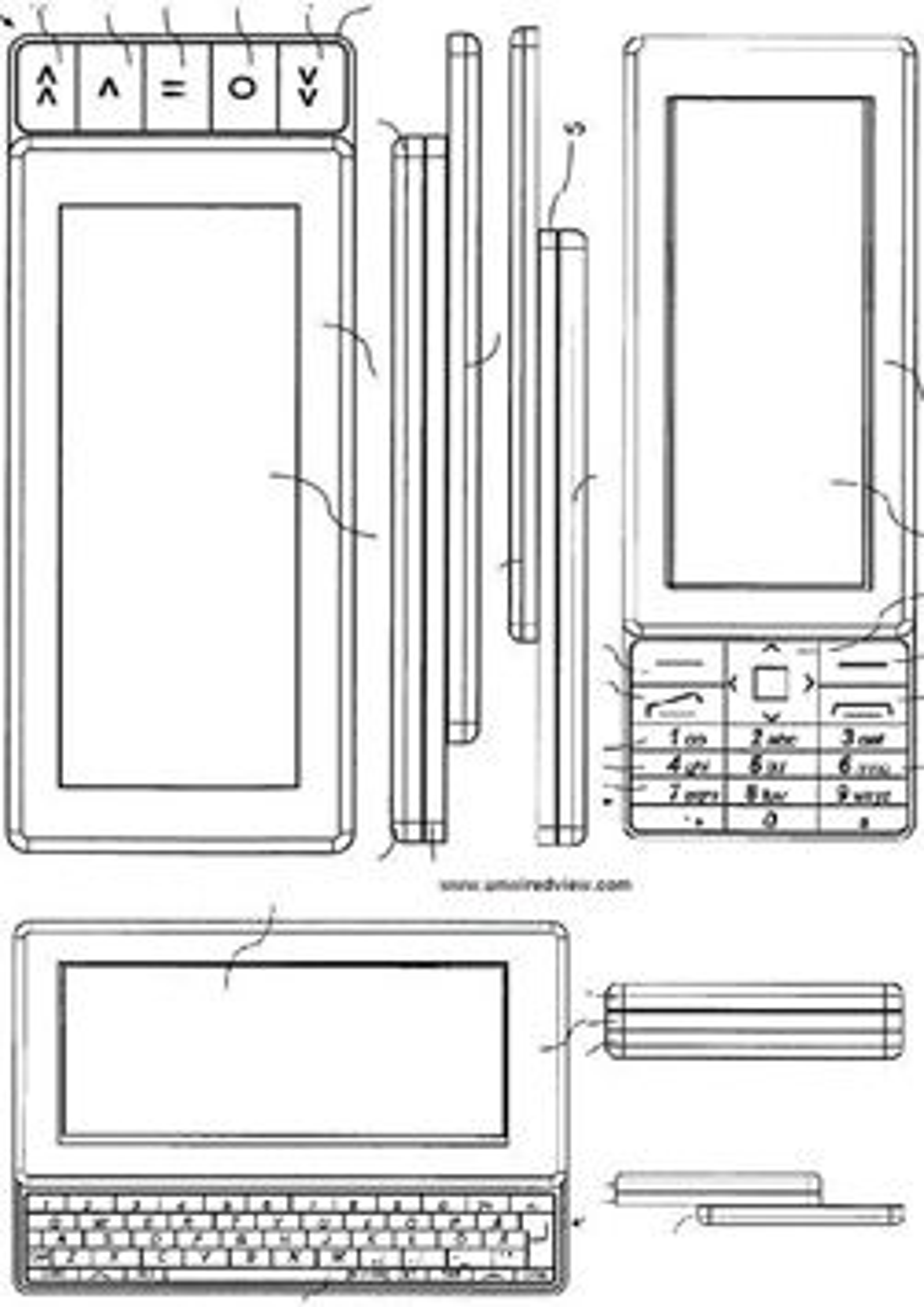 Nokias patenttegning. (Bilde: US Patent & Trademark Office)