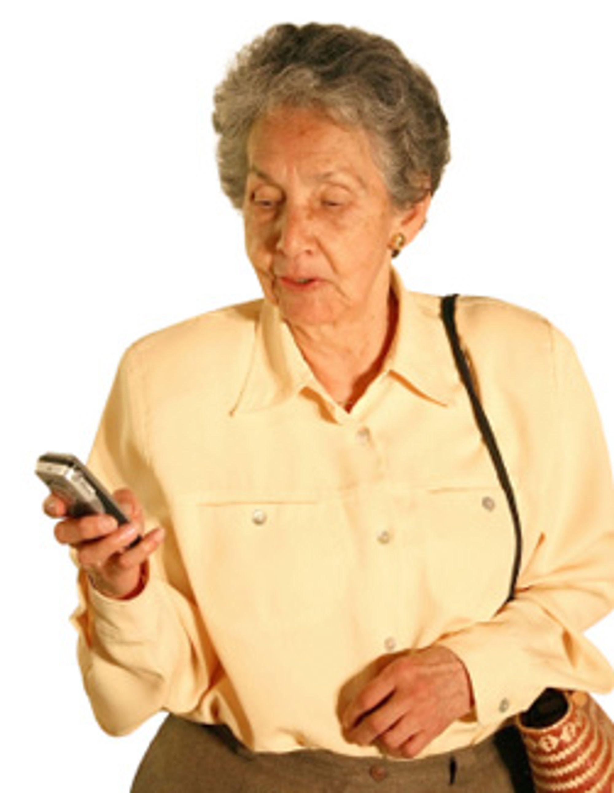Send besteforeldrene dine en jule-SMS, oppfordrer NetCom. (Foto: Istockphoto / Andersr)