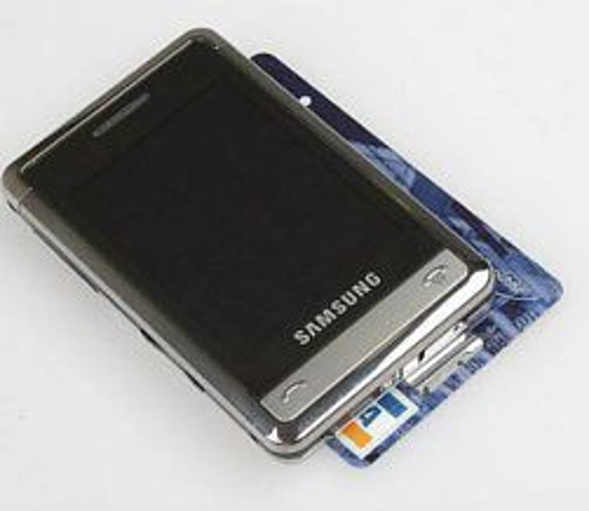 Samsungs motemobil er ikke mye større enn et kredittkort. (Foto: Mobil.cz)