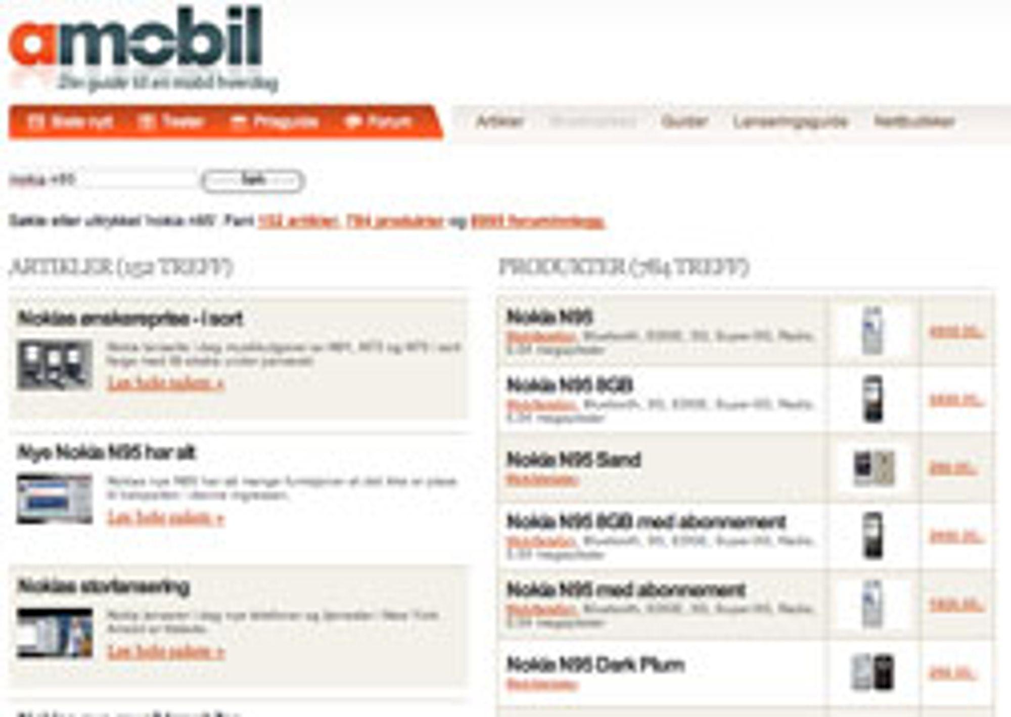 Nå søker du gjennom hele siden samtidig, både i forumet, prisguiden og artikler.