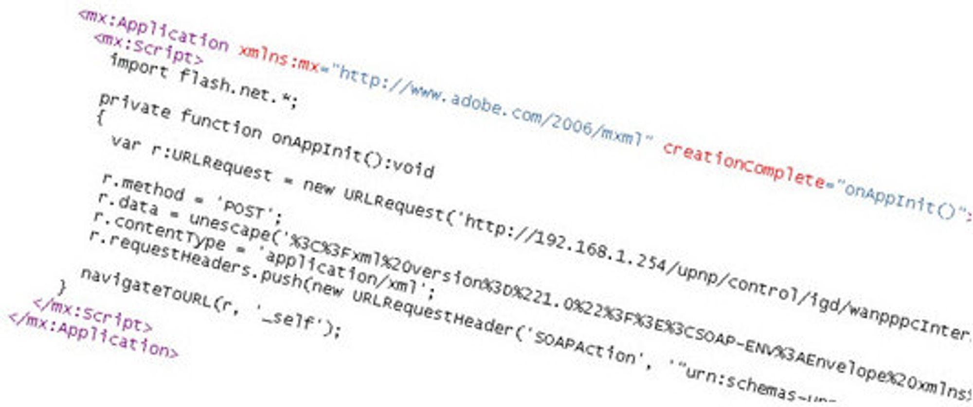 Skjermbilde av POC-koden