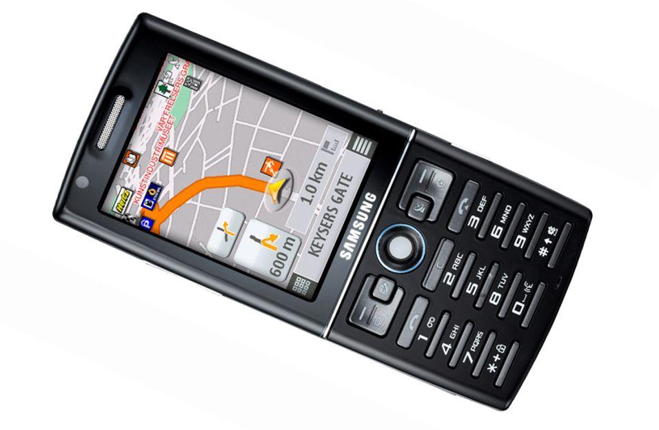 Samsung I550 har GPS, super-3G og S60-menyer.