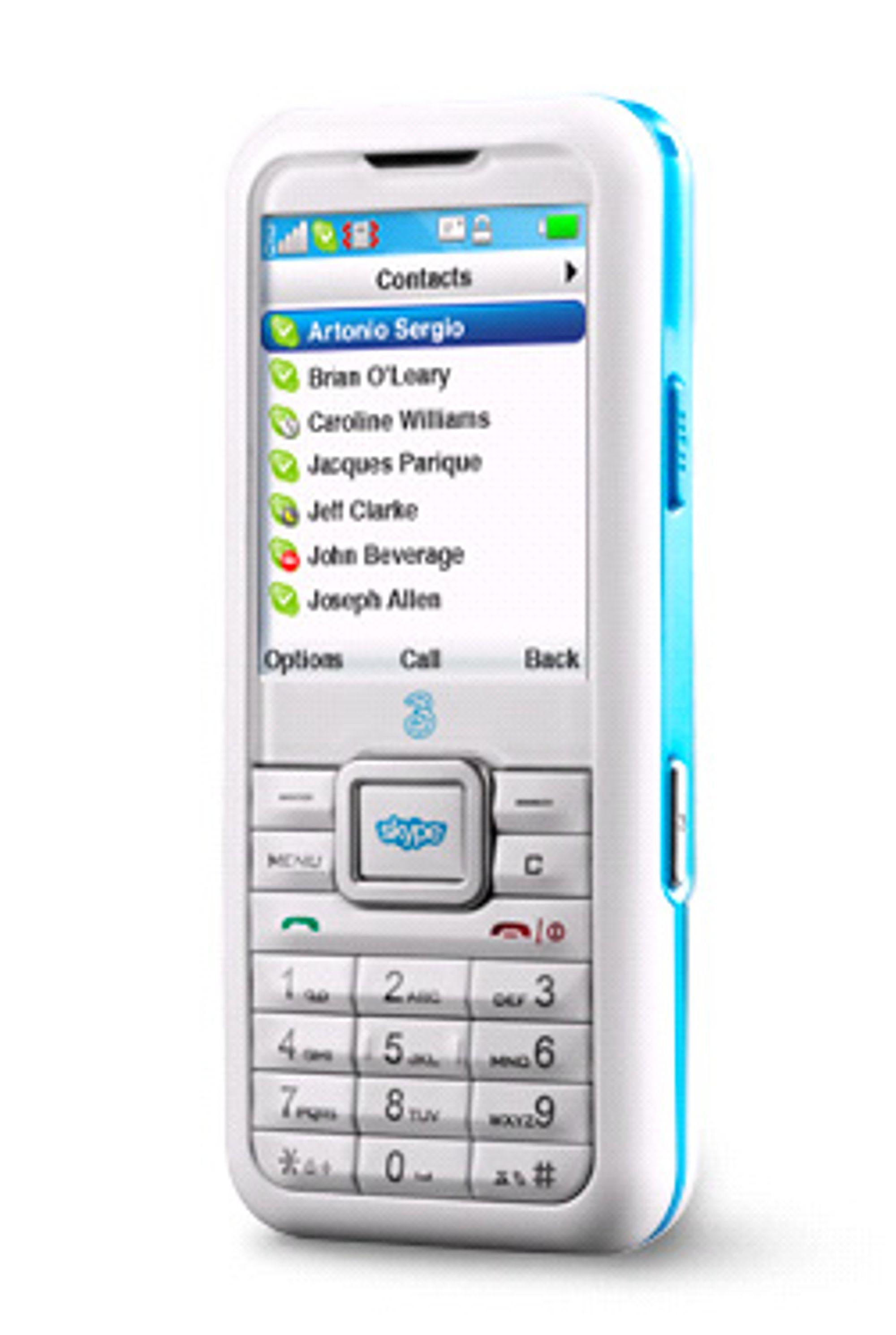 3 Skypephone er kun å få tak i i land der operatøren 3 opererer. (Foto: 3)