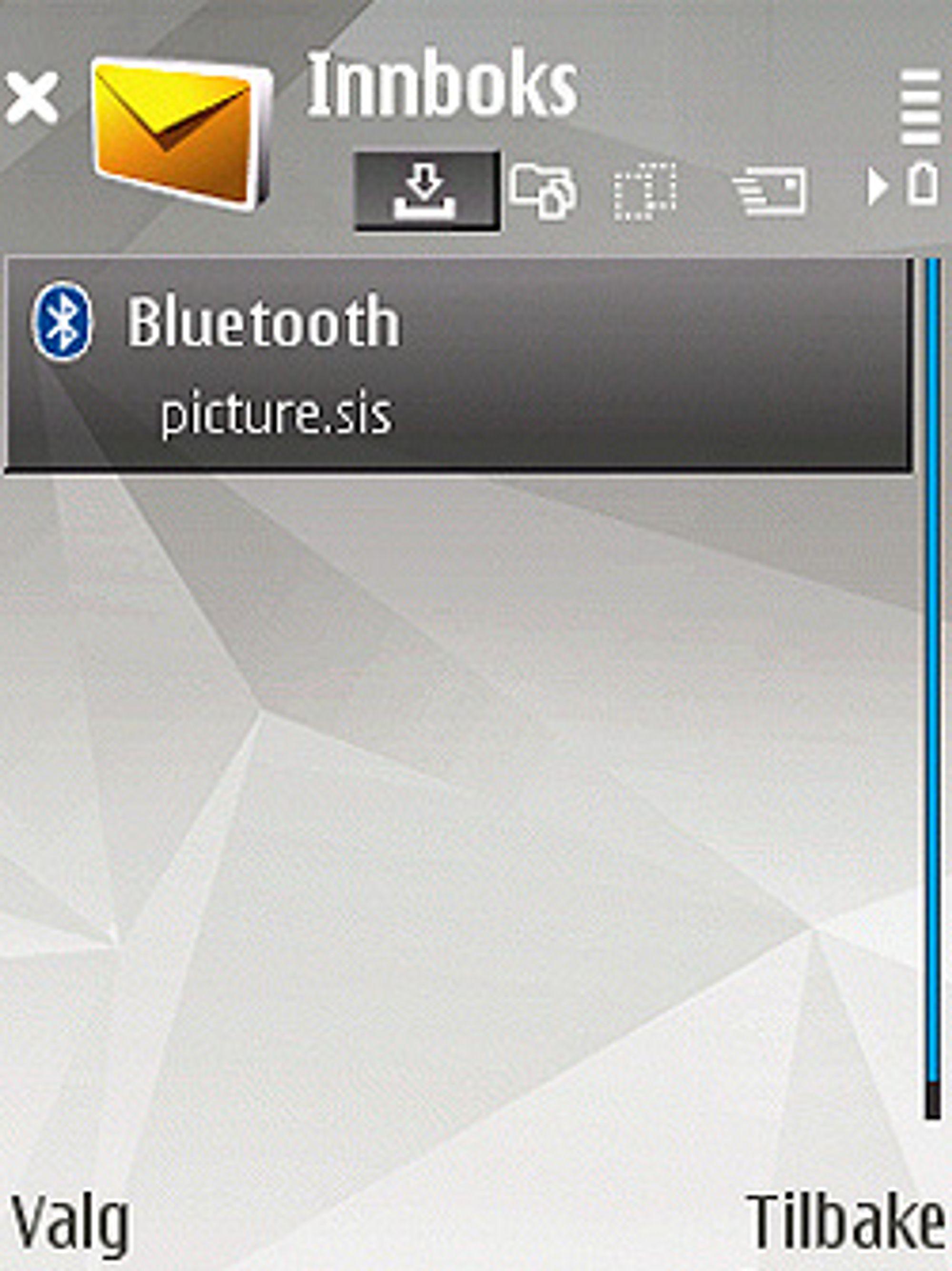 Slik ser det ut når du har lastet en fil ned til mobilen din. (Foto: Silje Gomnæs)