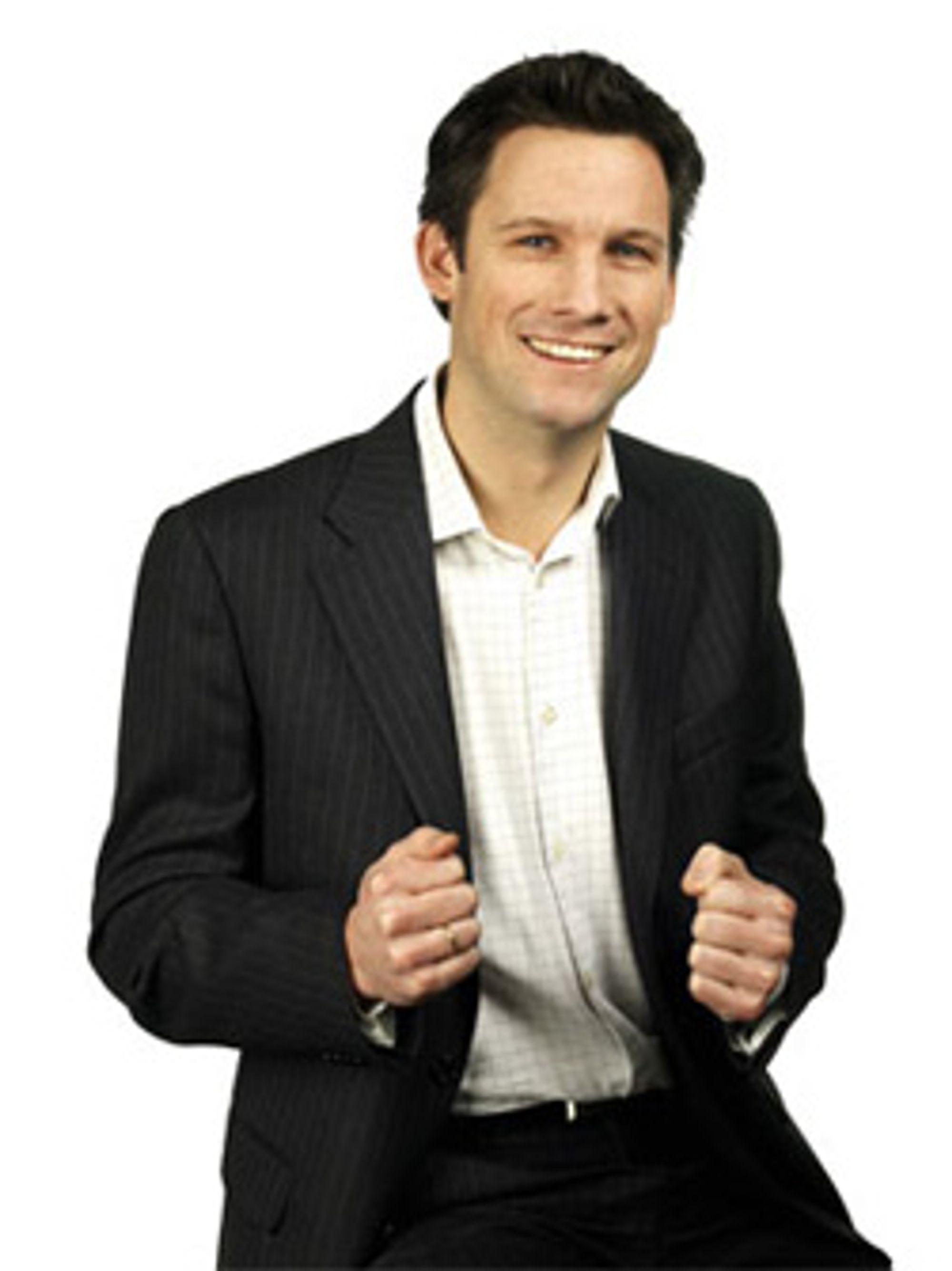 Netcoms Kristian Enger er gira på fasttelefon. (Foto: Netcom)
