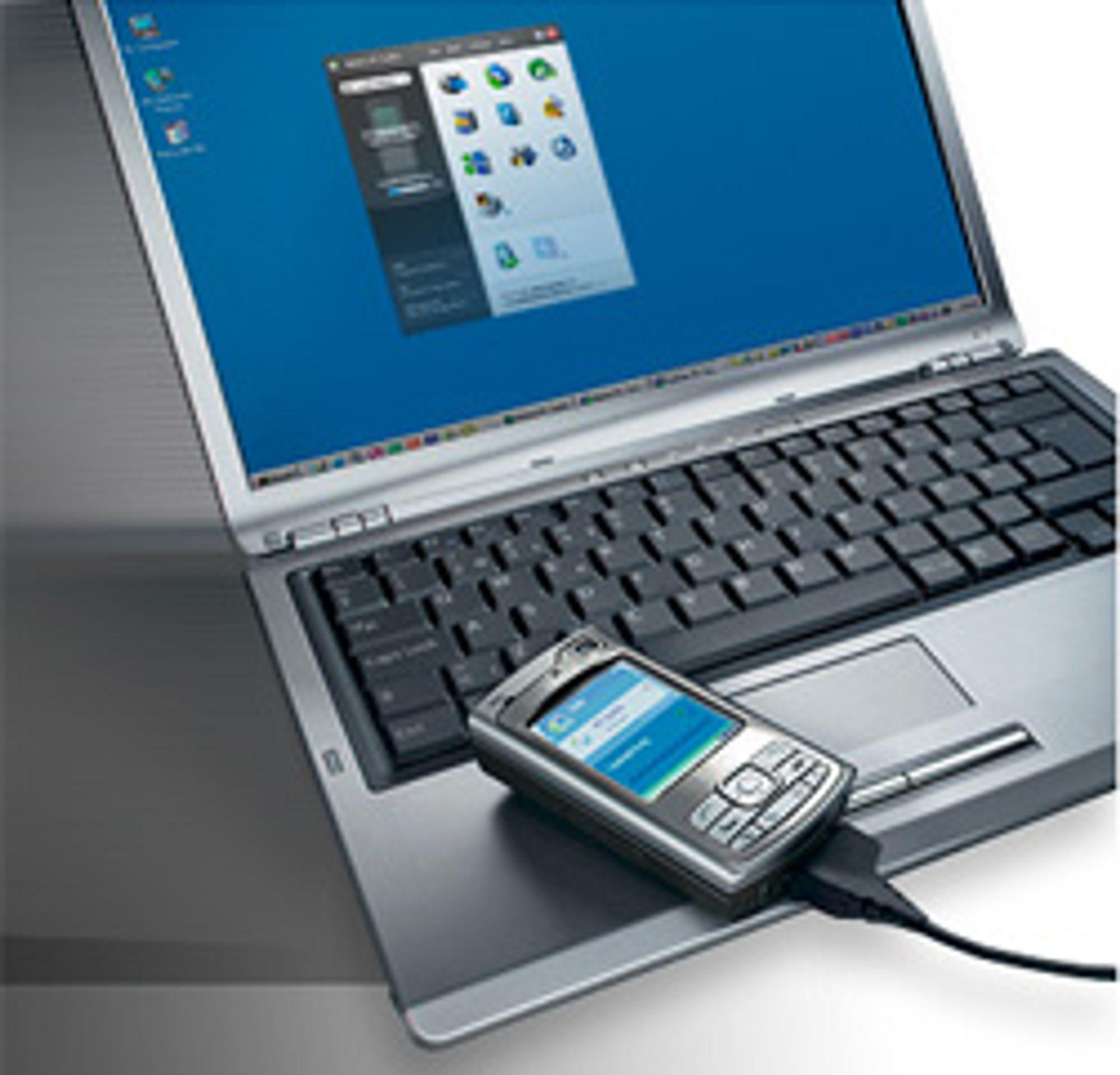 Men et PC-program som Nokia PC Suite kan du enkelt overføre innholdet på telefonen til PC-en. (Foto: Nokia)