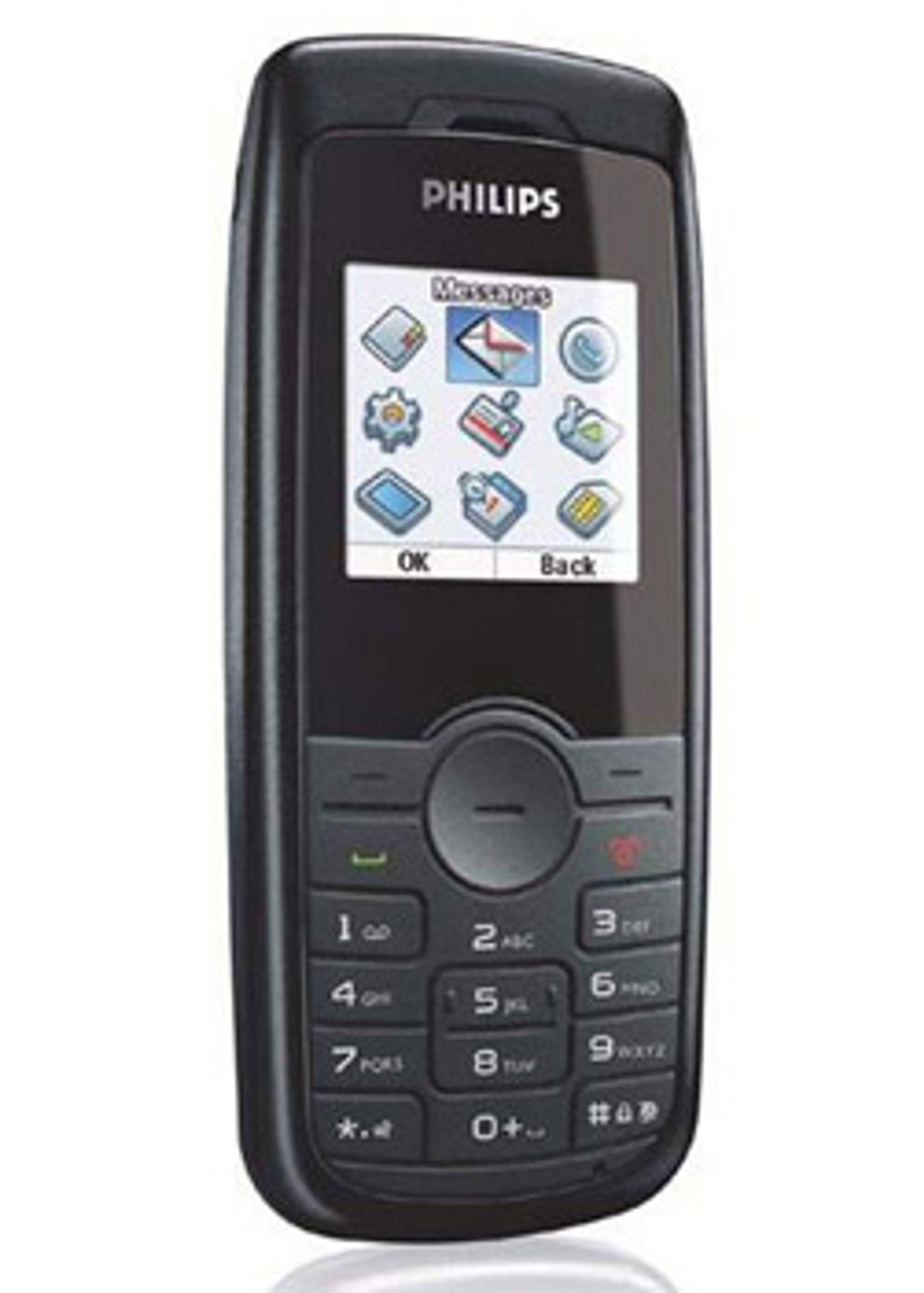 Philips' 192 Candybar er en enke telefon. (Foto: Unwired View)