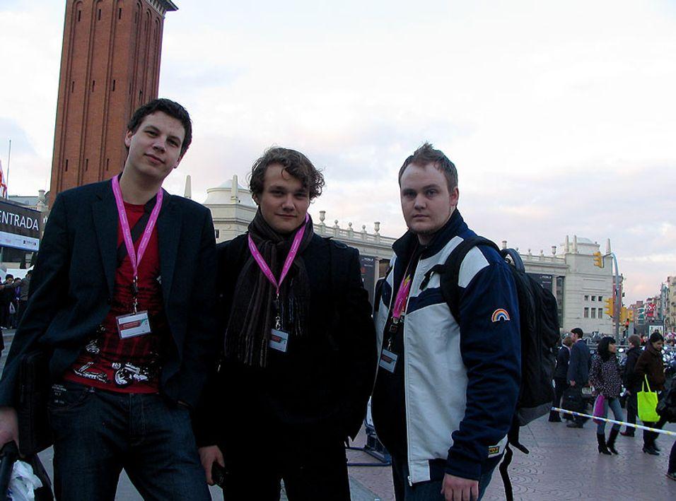 Fra venstre: Einar Eriksen, Simen J. Willgohs, Marius Valle