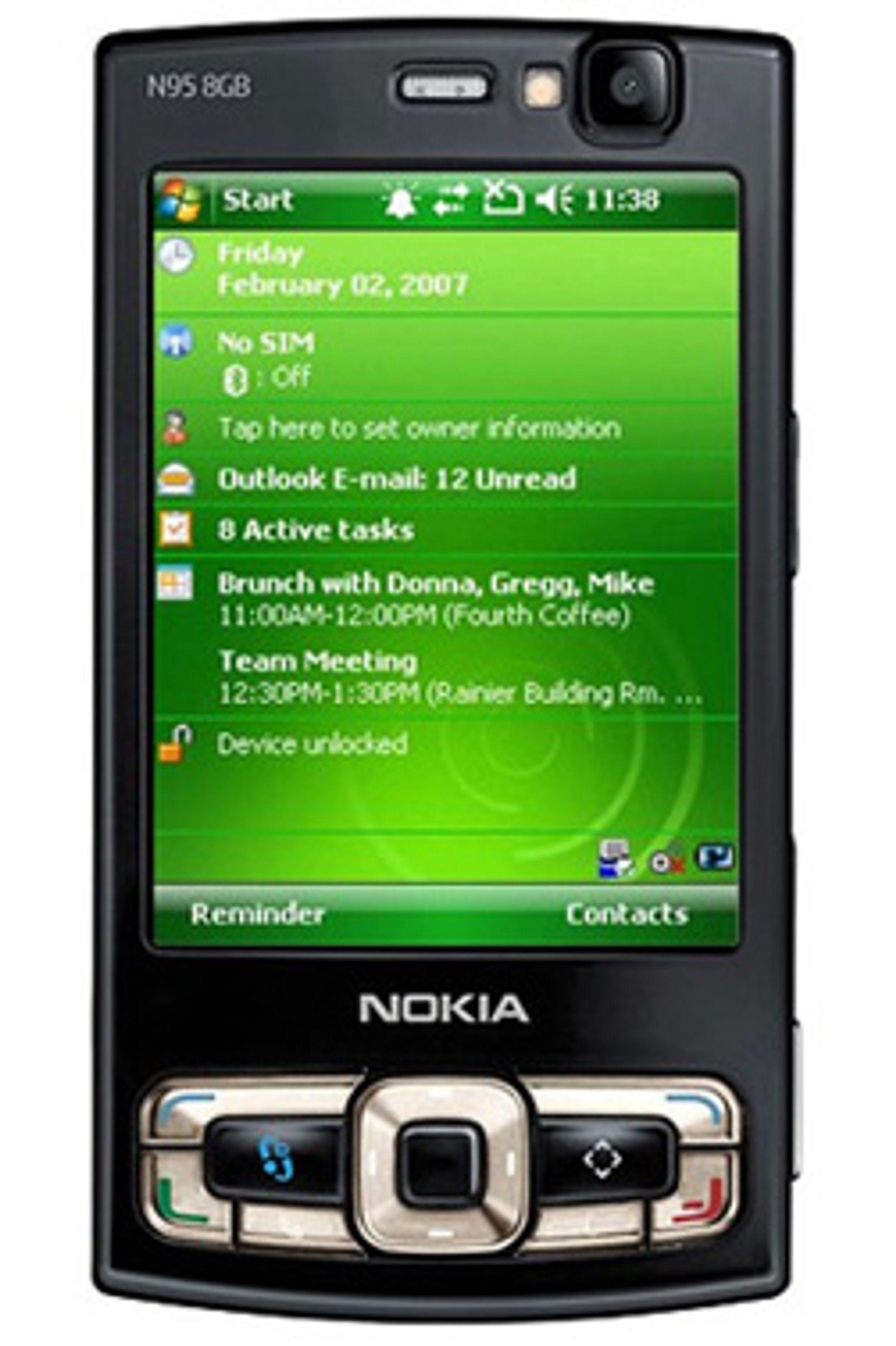 Windows Mobile på Nokia-mobiler kan du se langt etter. (Illustrasjon: Engadget Mobile)