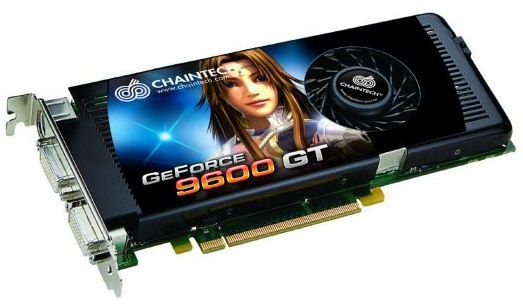 GeForce 9600 GT fra Chaintech