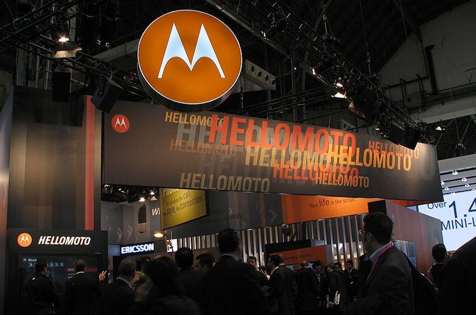 Motorolas messeområde var kanskje messens mest pressefiendtlige.